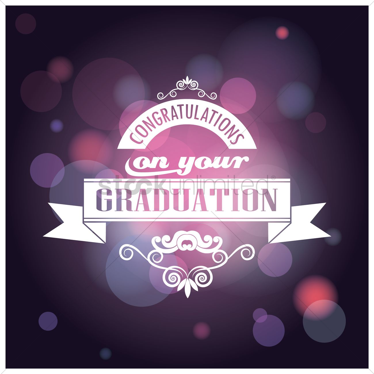 congratulations on your graduation card vector graphic