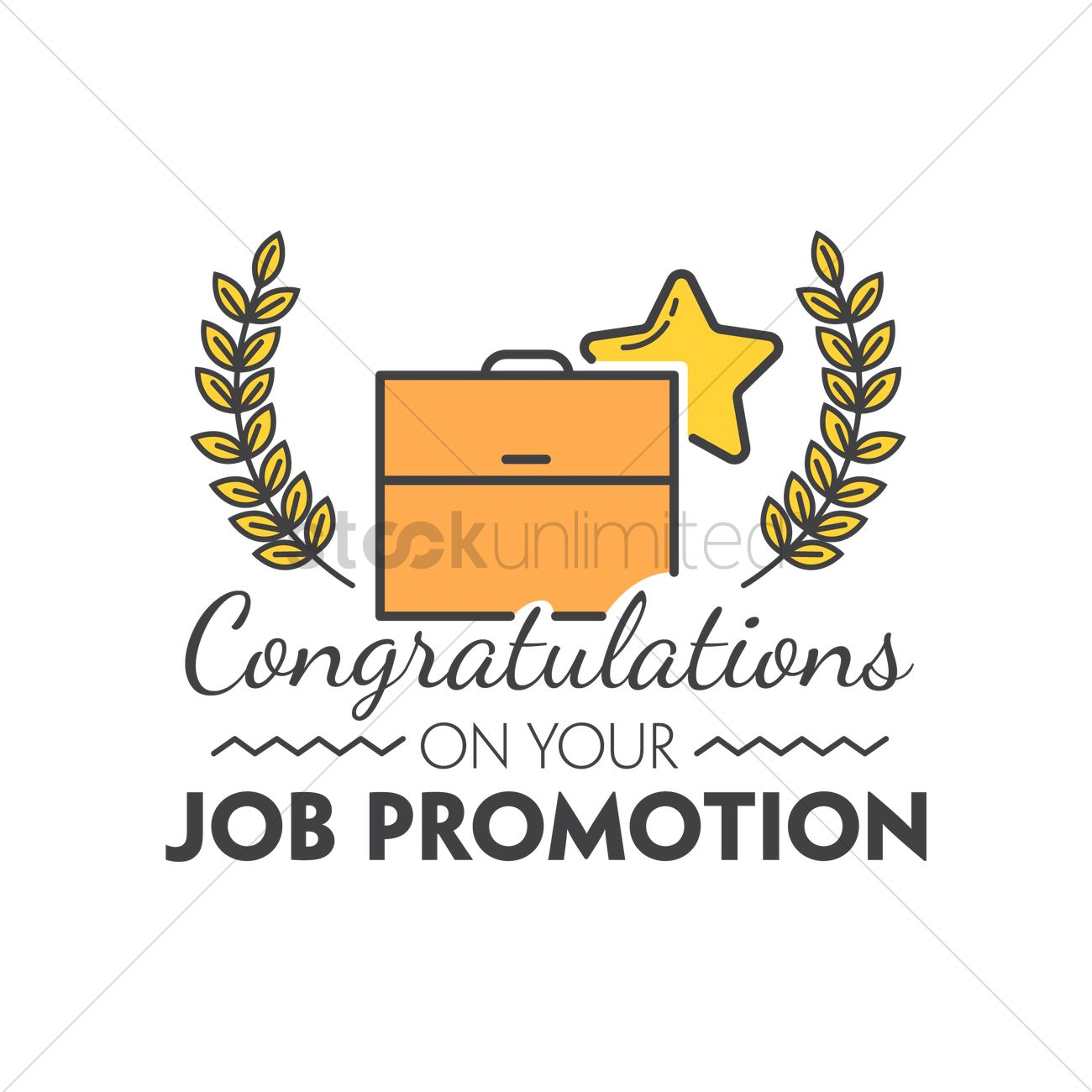 Congratulations on your job promotion Vector Image - 1791313 ...