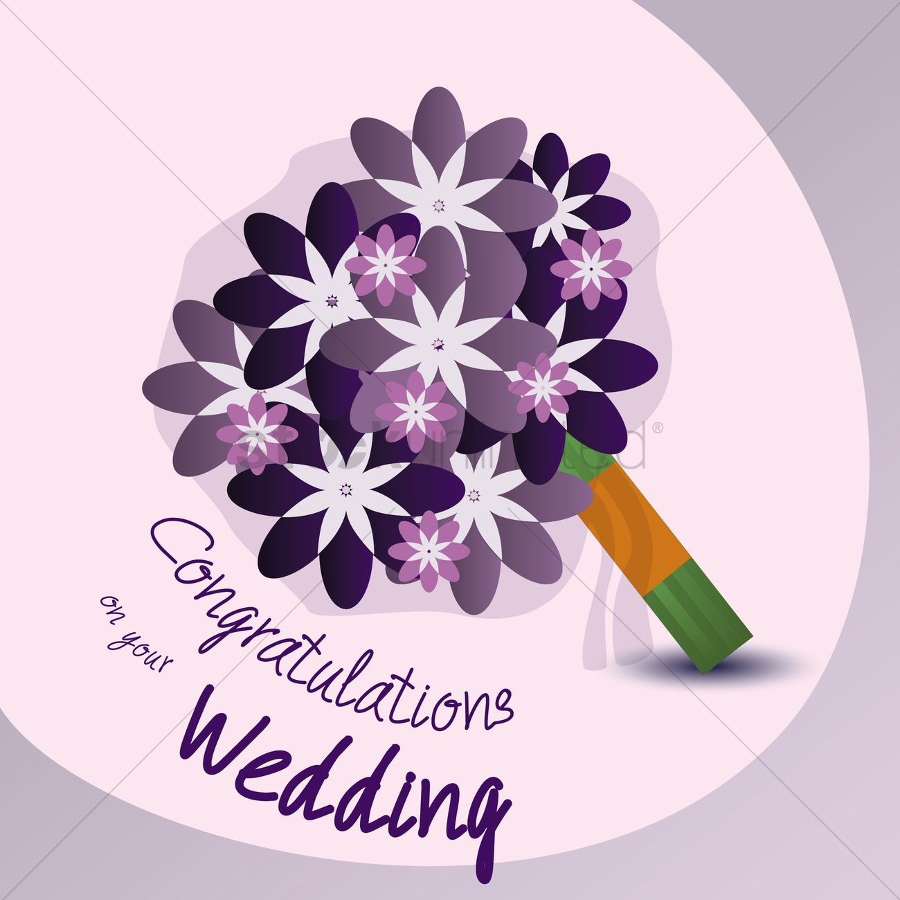 Congrats On Your Wedding: Congratulations On Your Wedding Vector Image