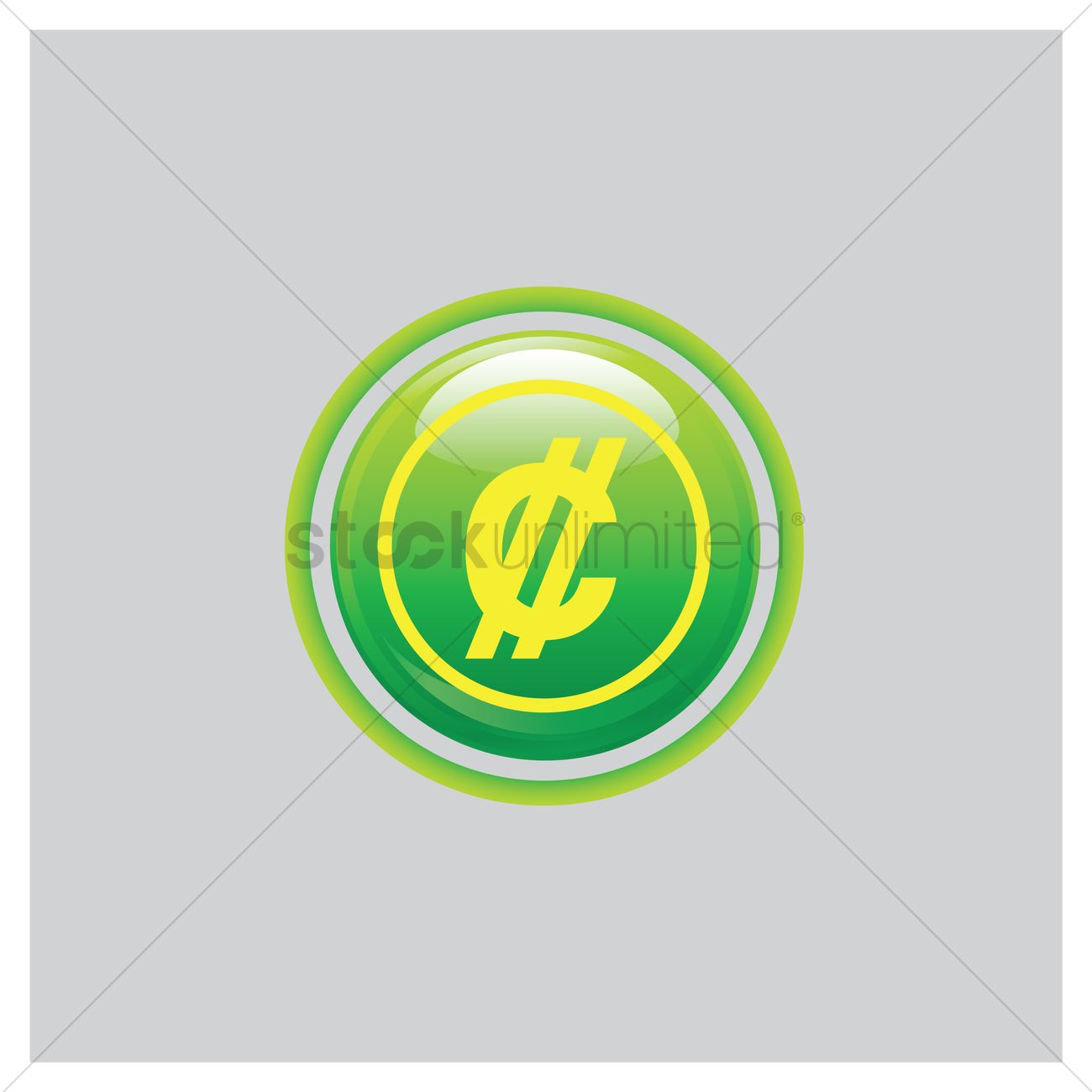 Costa Rican Colon Icon Vector Image 1635573 Stockunlimited