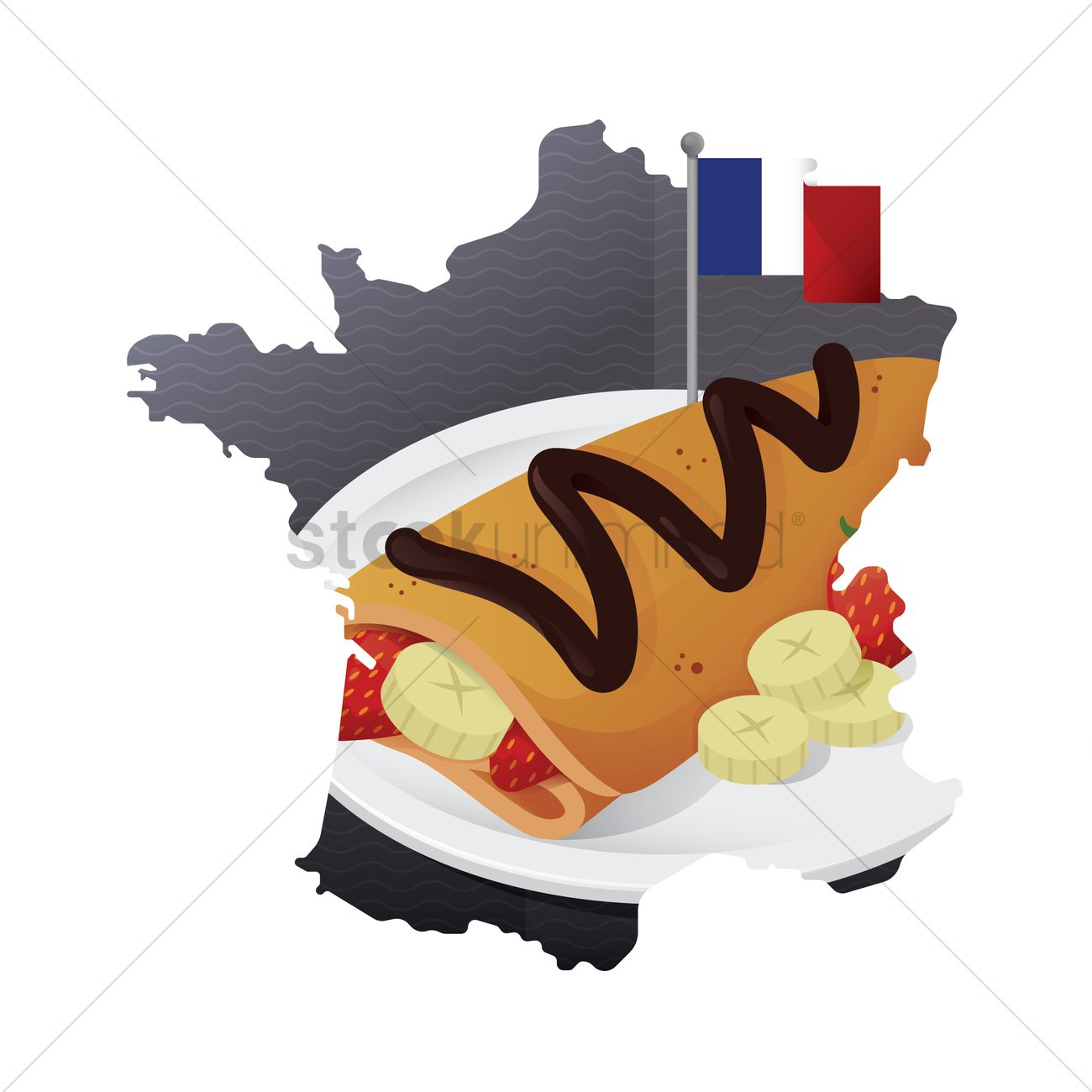 crepe in a plate vector image 1568013 stockunlimited rh stockunlimited com French Female Chef Clip Art French Emblem Clip Art