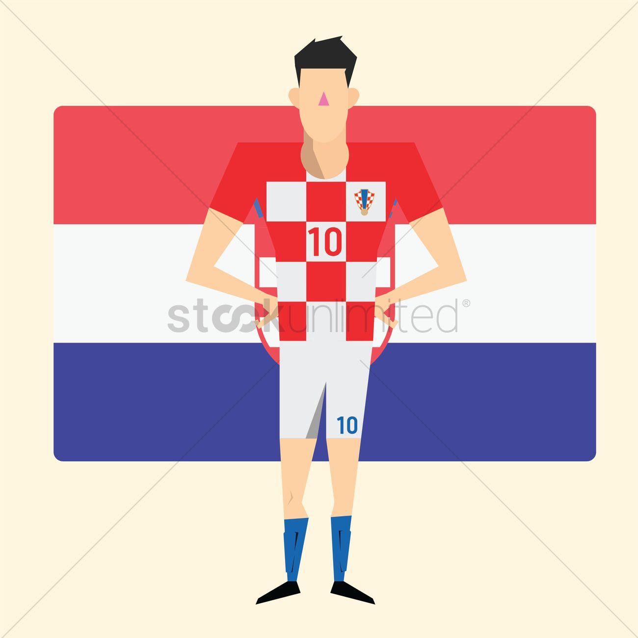 Croatia footballer Vector Image - 2088065  c77157af5
