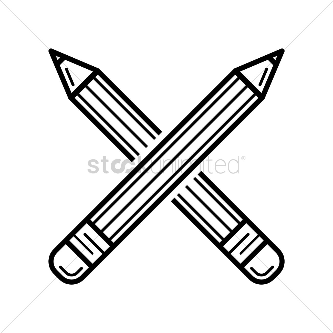 crossed pencils vector image 1524821 stockunlimited rh stockunlimited com cross pens gold content cross pens logo