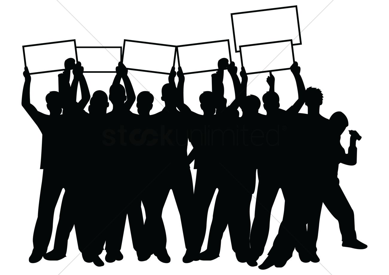 crowd with placards vector image 2007761 stockunlimited rh stockunlimited com crown vector free crow vector