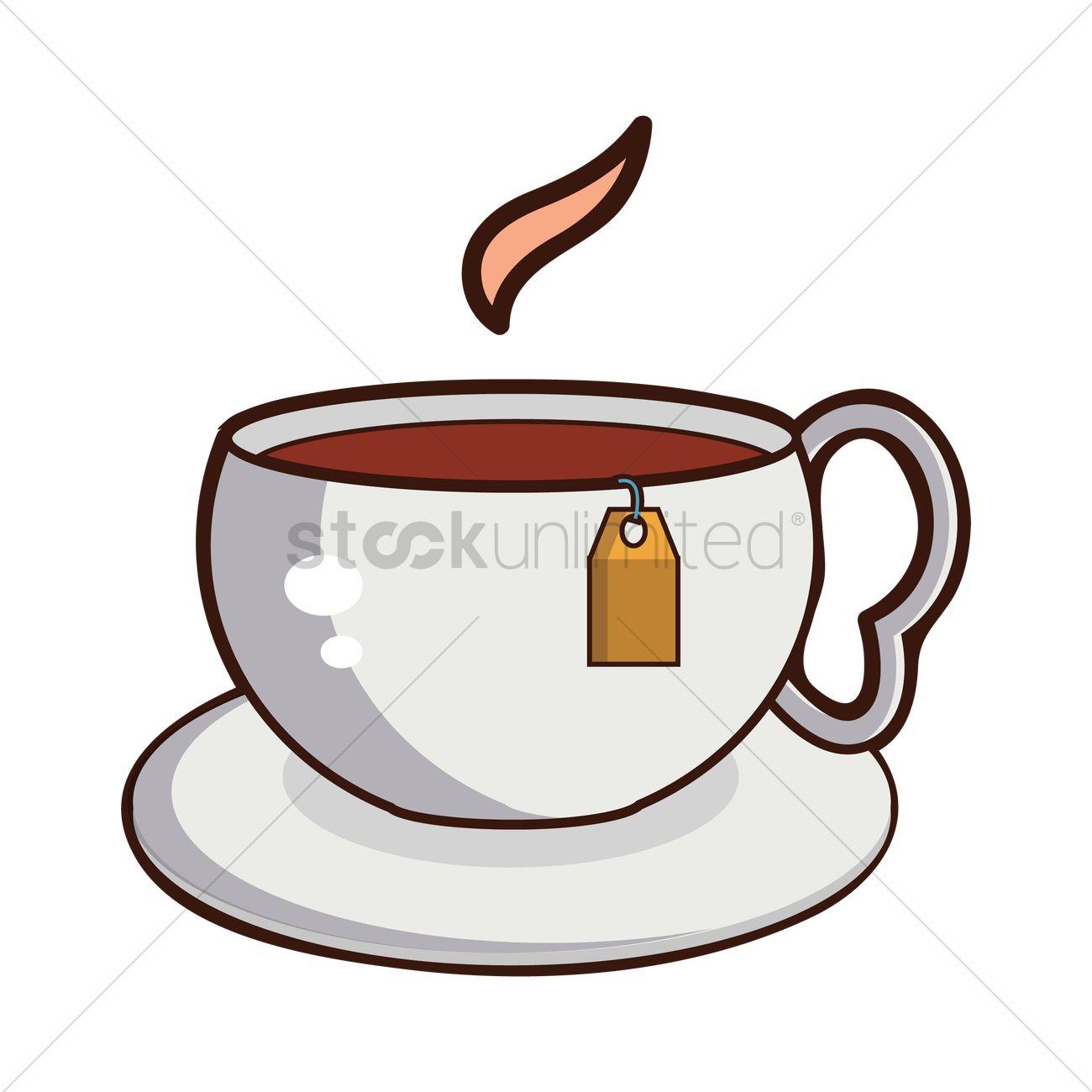 Hot coffee vector Free vector in Adobe Illustrator ai ... |Hot Tea Art