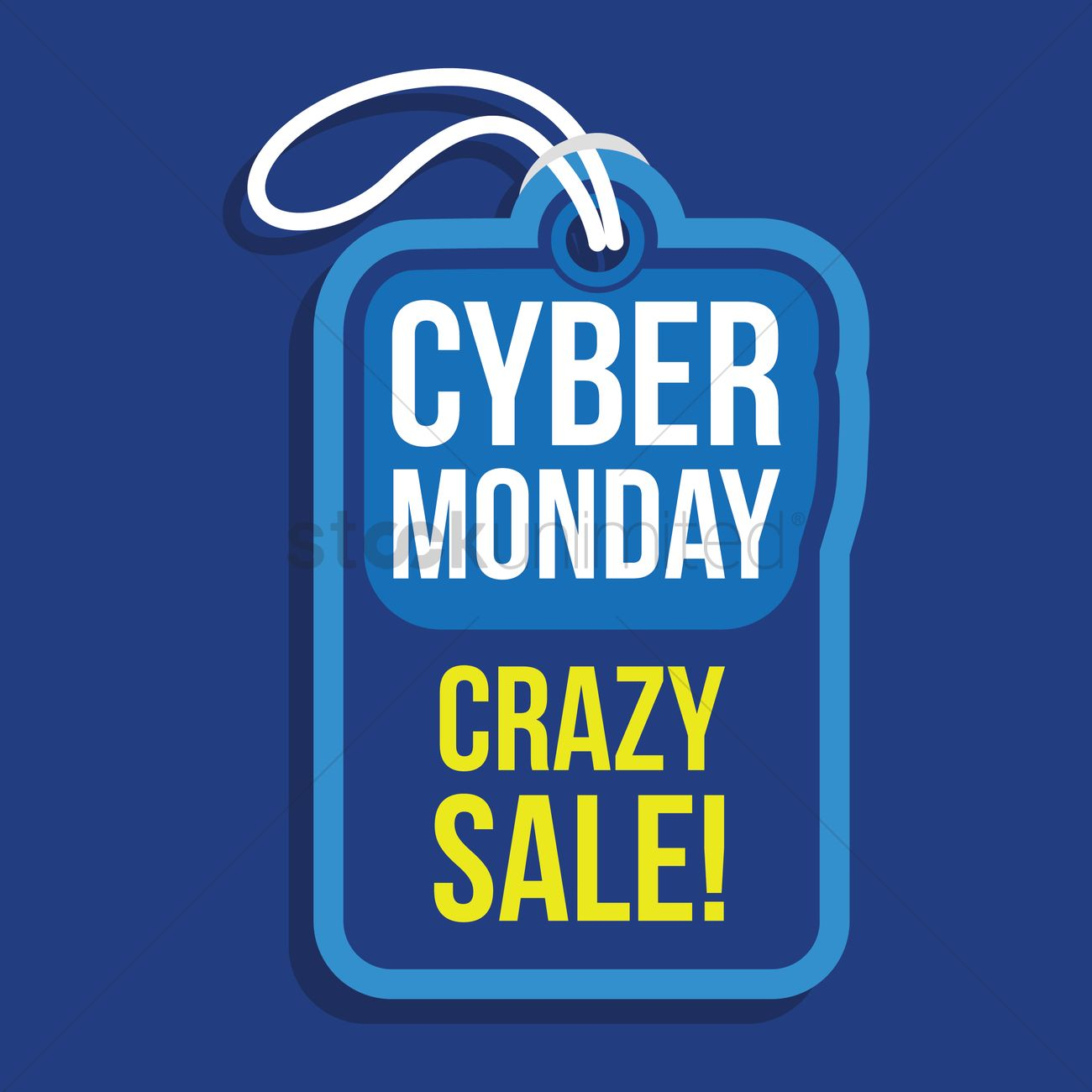 620f9965dfe Cyber monday crazy sale tag Vector Image - 1824201 | StockUnlimited