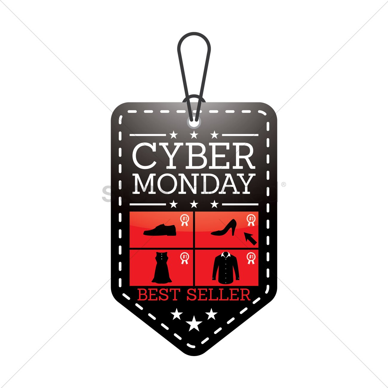 Cyber monday sale tag Vector Image - 1824393 | StockUnlimited