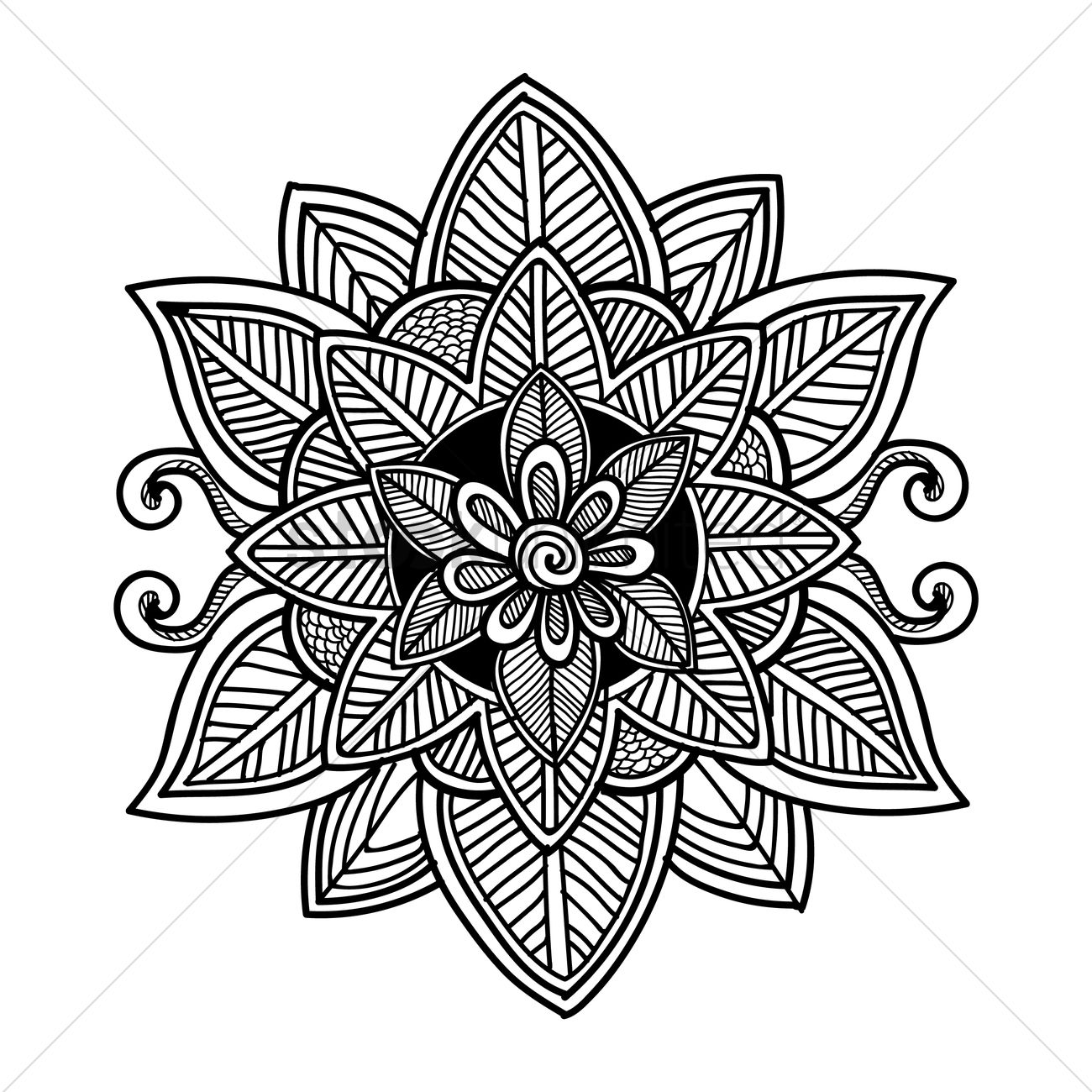 decorative flower design vector image 1570317