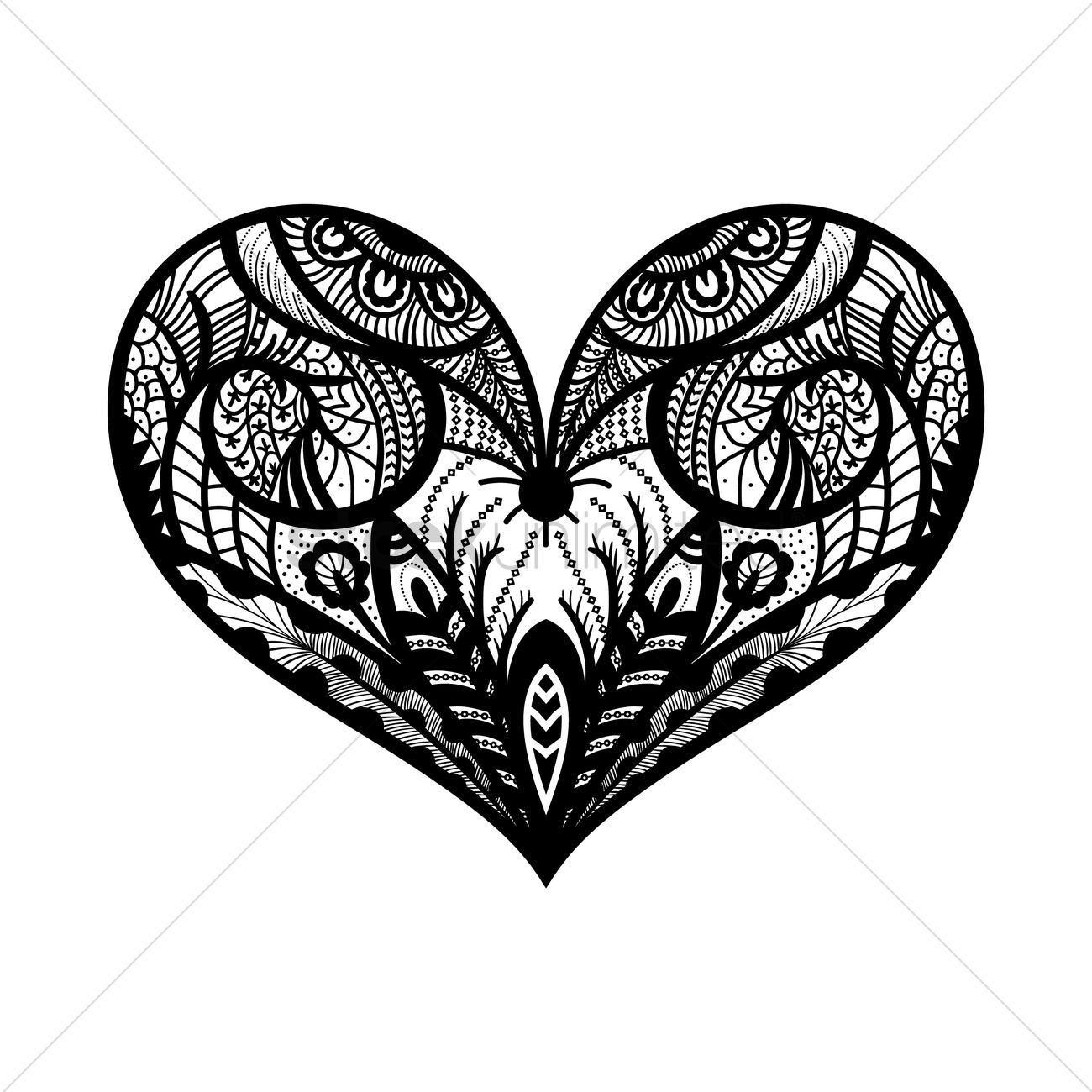 Decorative heart design Vector Image - 1570141 | StockUnlimited