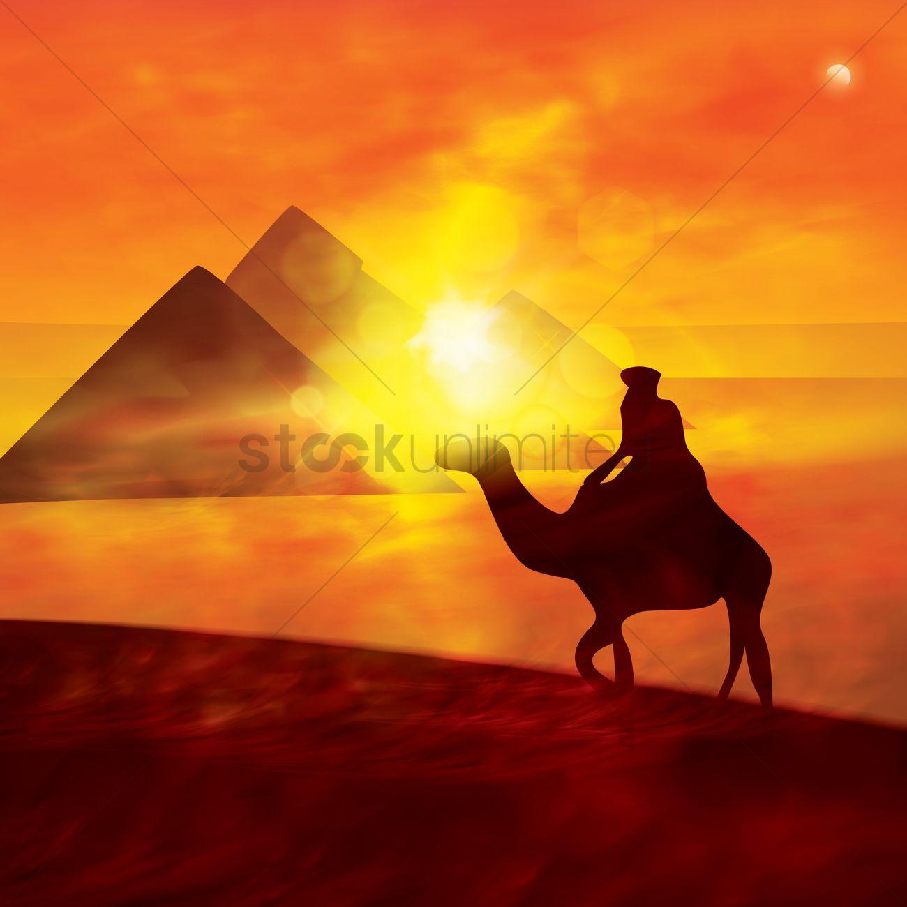 Desert Wallpaper Vector Image 1807217 Stockunlimited