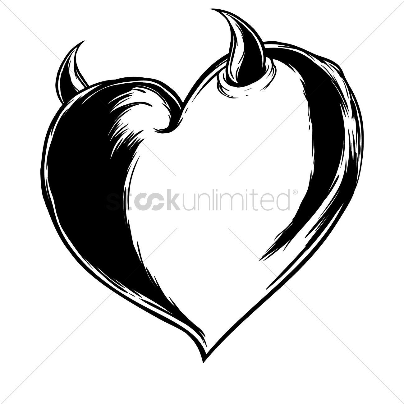 devil heart vector image 1873869 stockunlimited