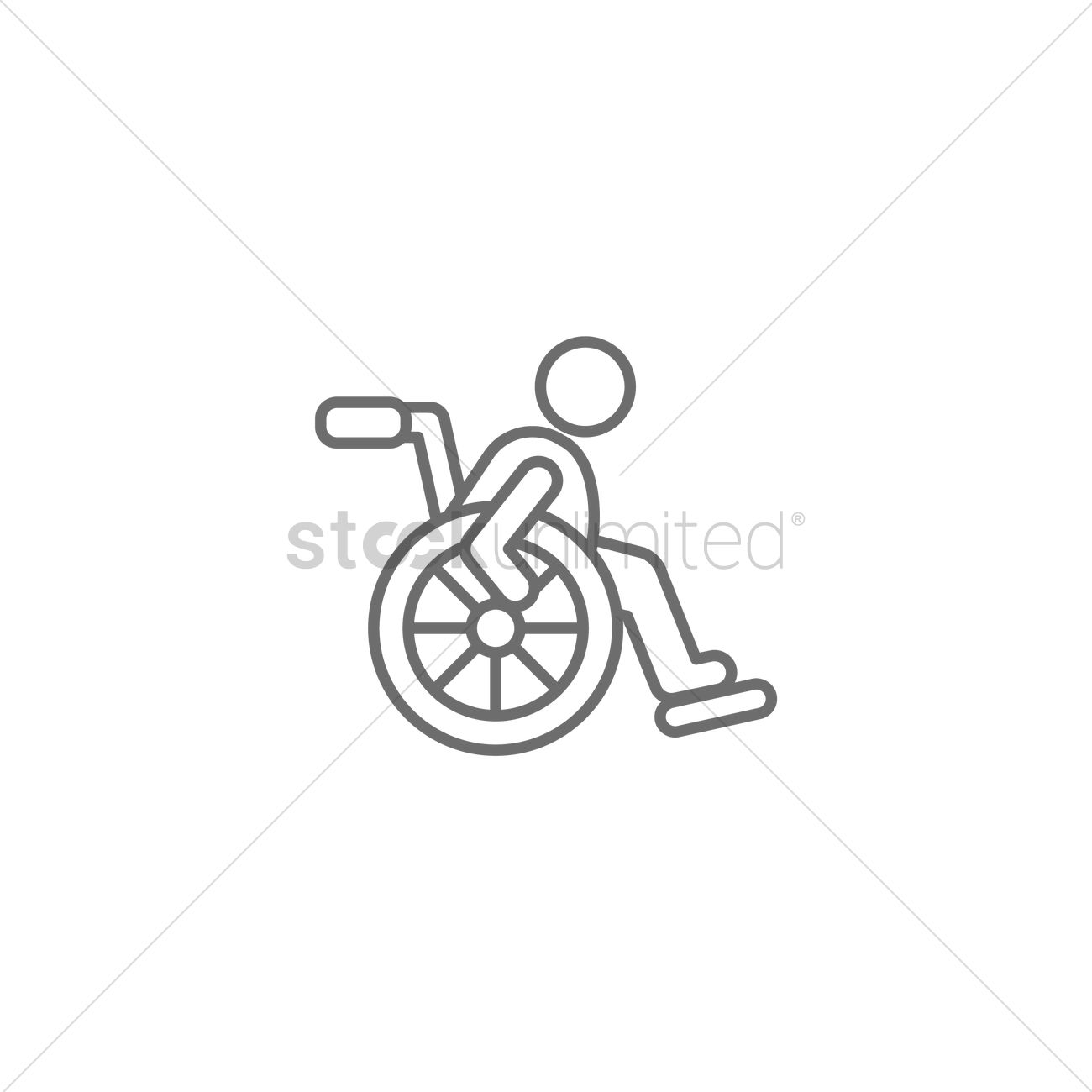 Disabled Person Icon Vector Image 1956769 Stockunlimited