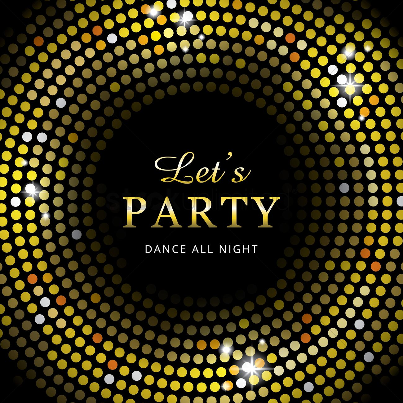 Disco night party Vector Image - 1934353 | StockUnlimited