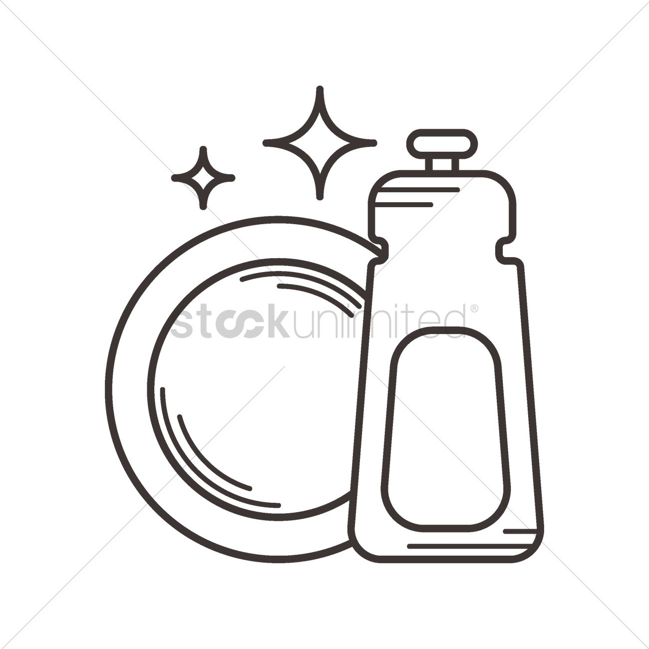 dishwasher clipart black and white. dishwasher detergent and plate vector graphic clipart black white
