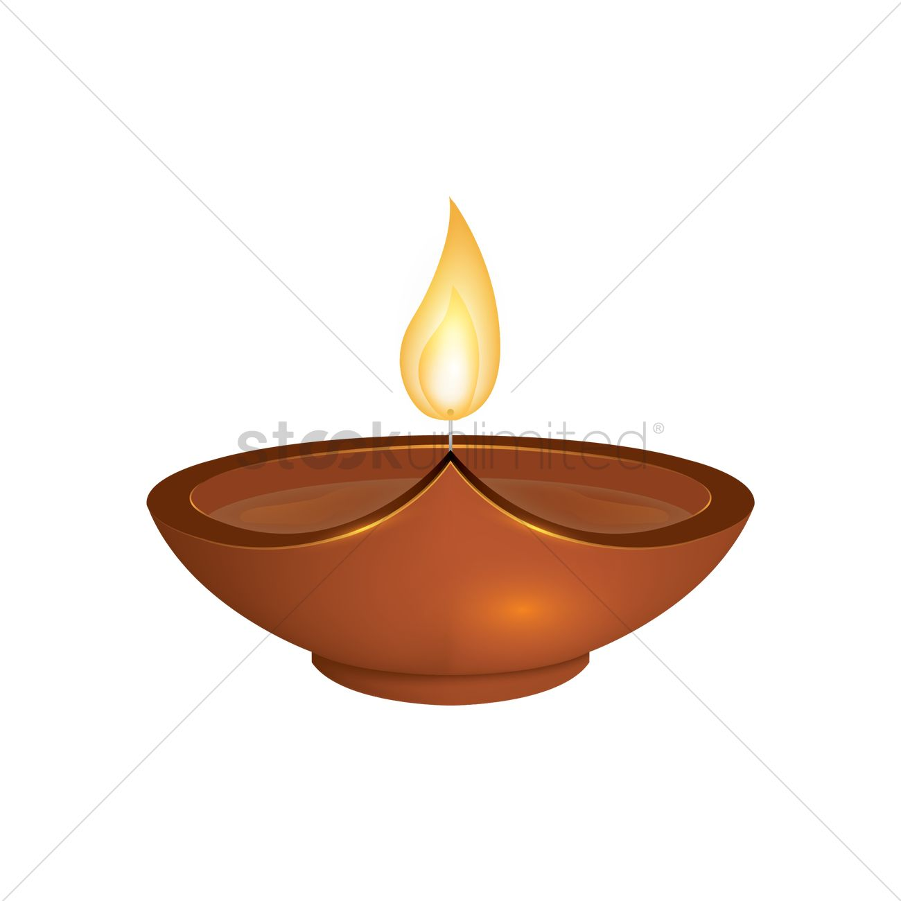 Diwali Lamp Vector Graphic