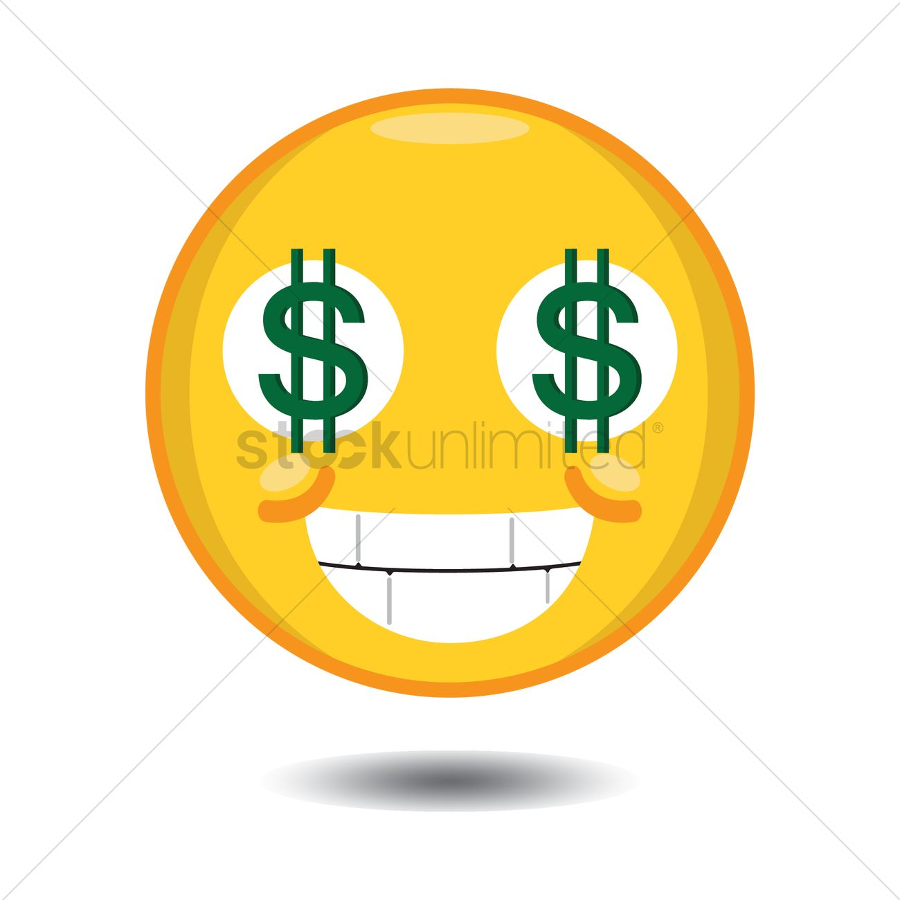 Dollar sign eyes smiley Vector Image - 1283909   StockUnlimited