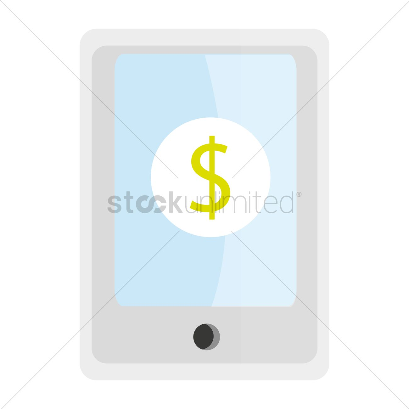 Free Dollar Sign On Mobile Vector Graphic