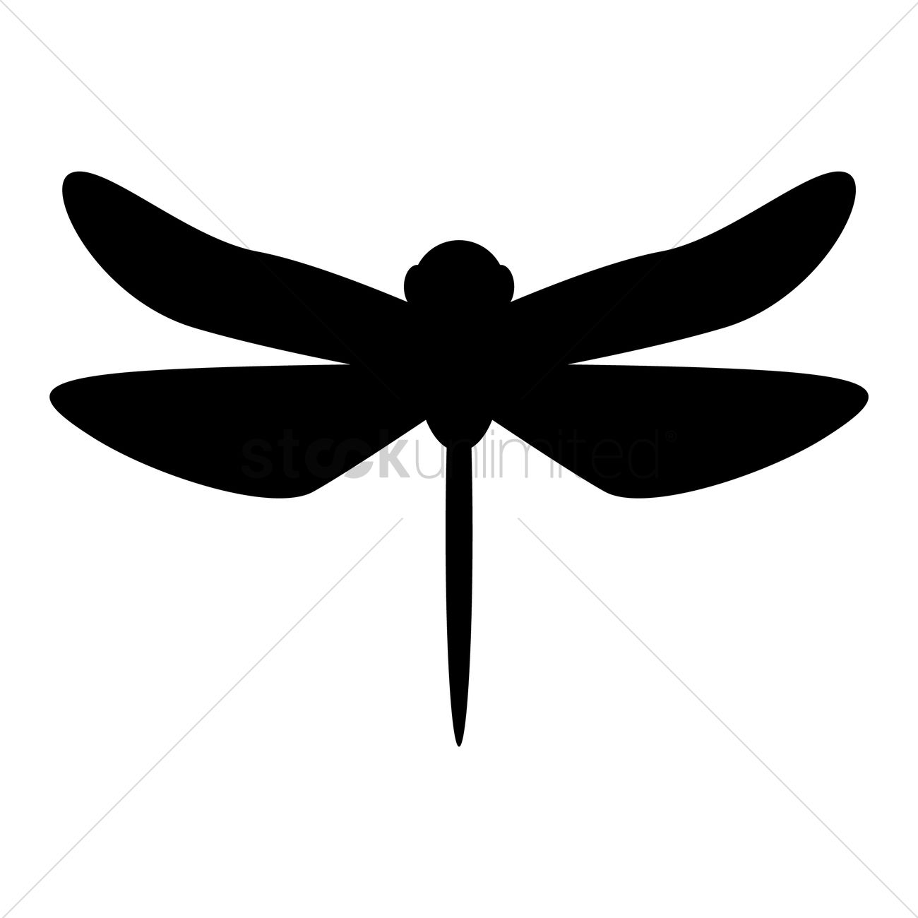 dragonfly silhouette vector image 1955805 stockunlimited