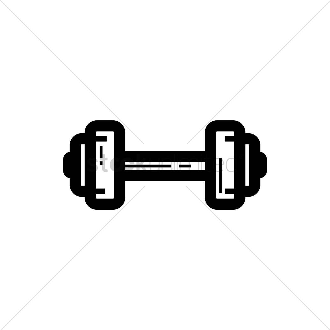 Dumbbell Icon Vector Dumbbell Vector Image ...