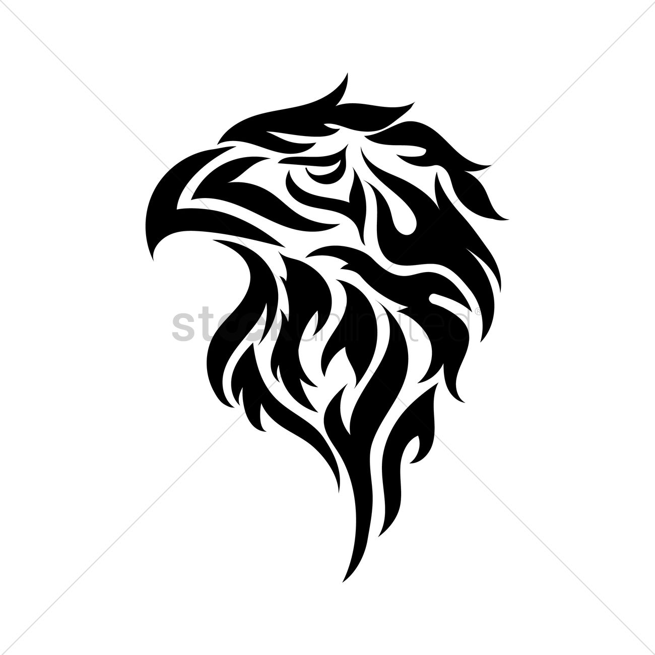eagle tribal tattoo vector image 1480245 stockunlimited. Black Bedroom Furniture Sets. Home Design Ideas