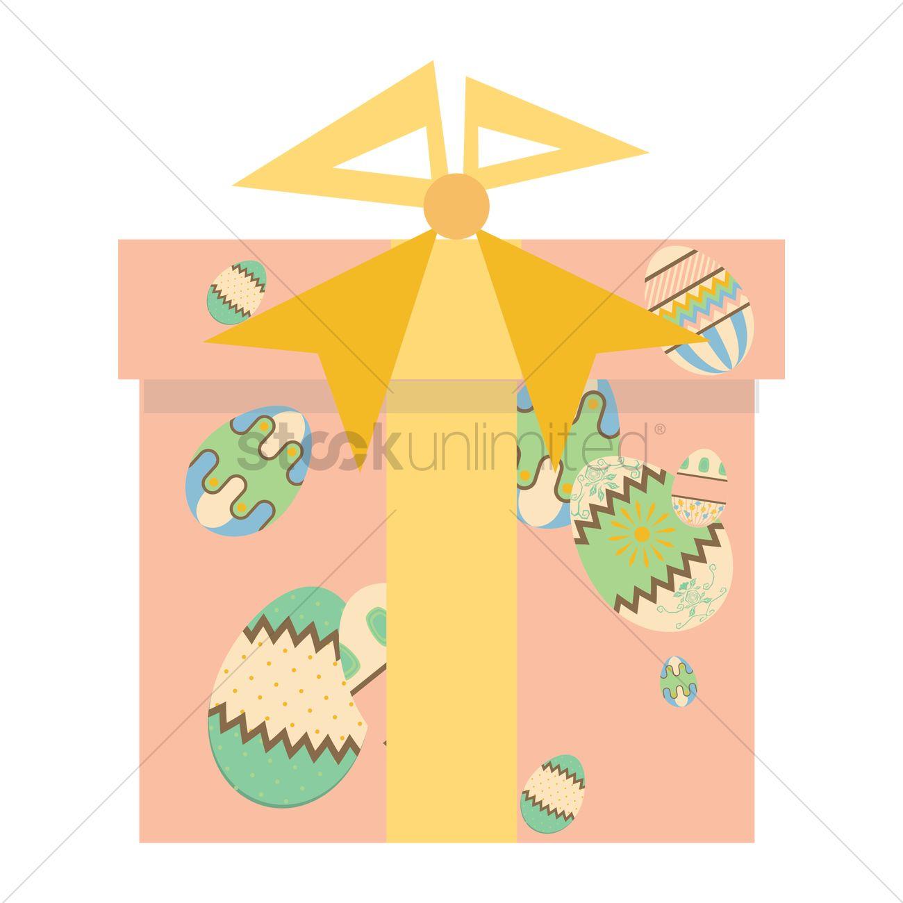 Easter egg gift box vector image 1460529 stockunlimited easter egg gift box vector graphic negle Choice Image