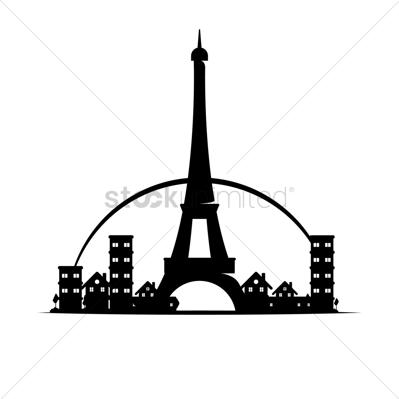 eiffel tower vector image 1417157 stockunlimited