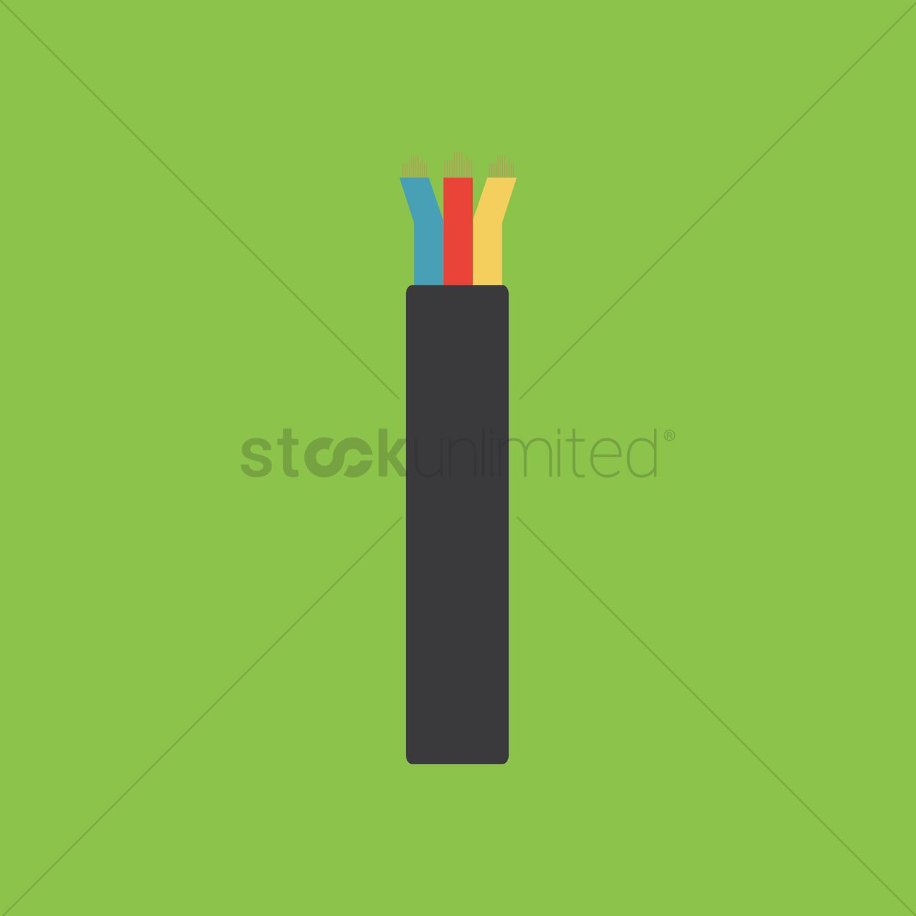 Electrical wire Vector Image - 1450177 | StockUnlimited