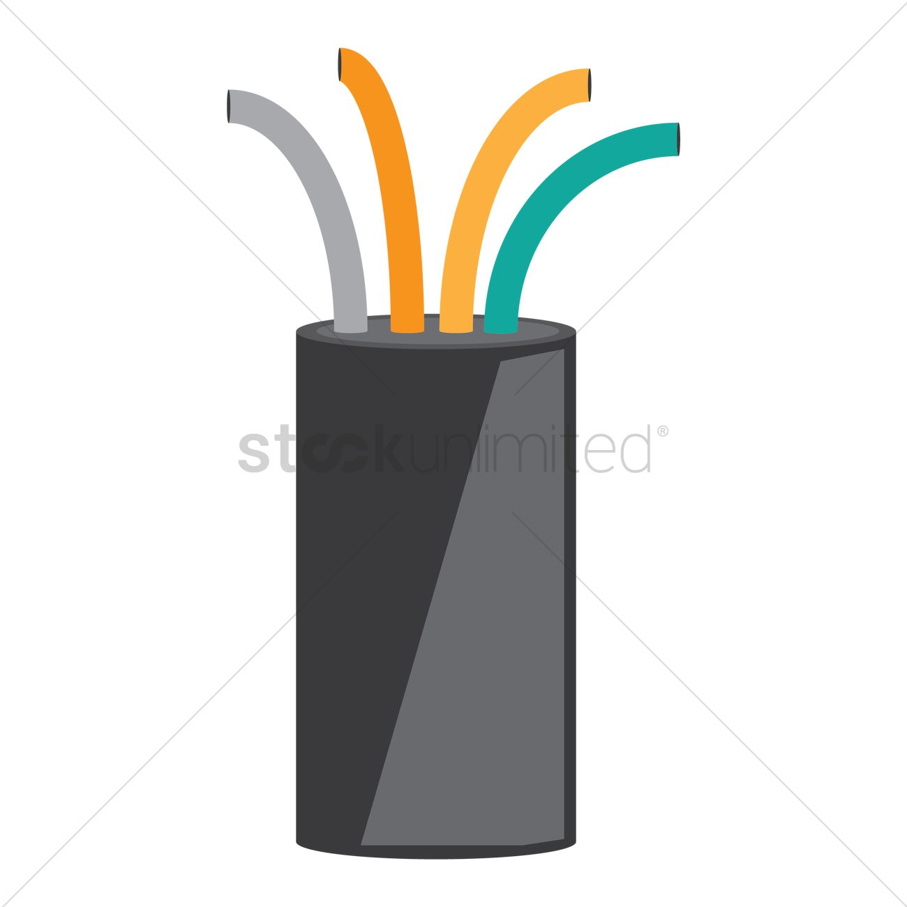 Electrical wire Vector Image - 1451557 | StockUnlimited