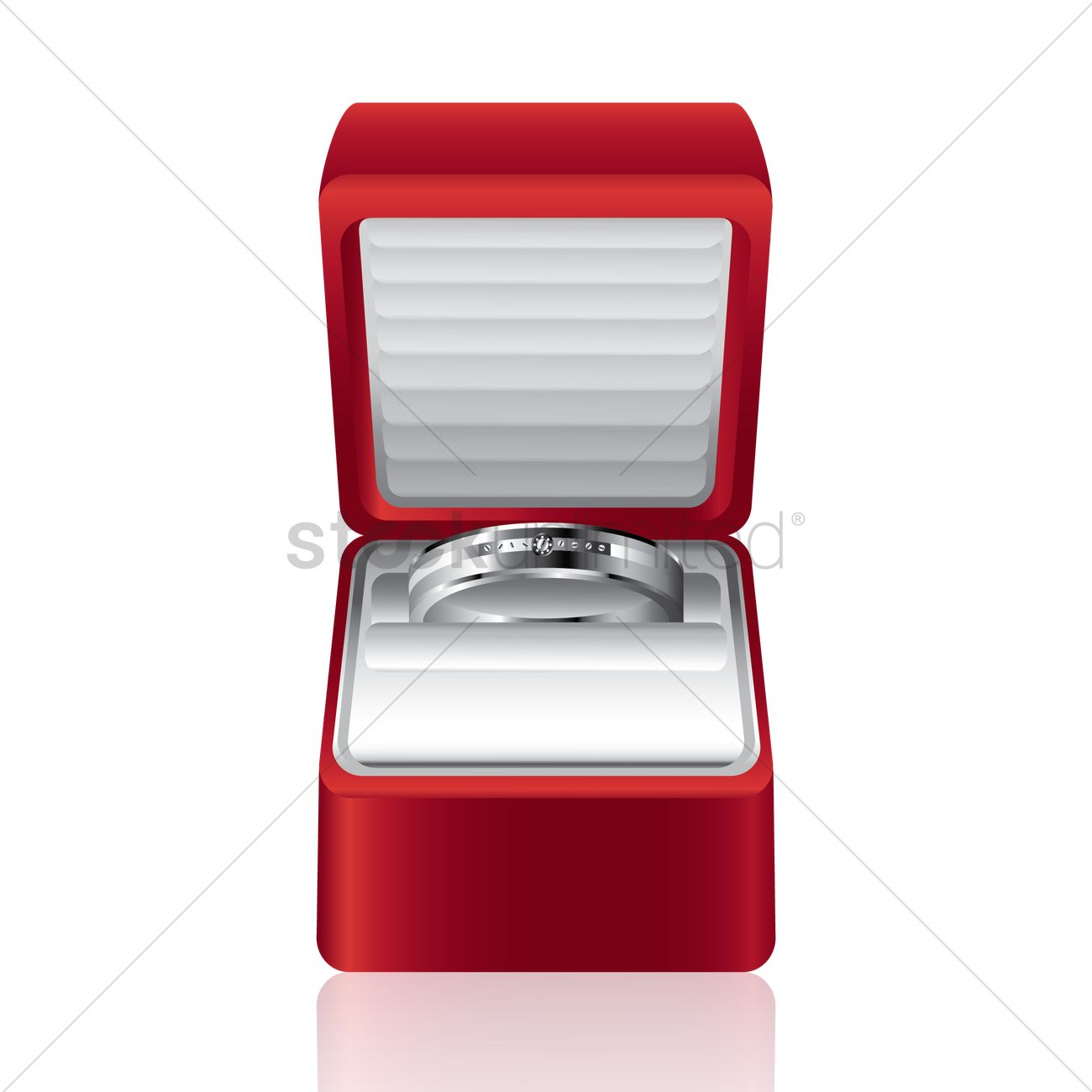 Engagement ring in box Vector Image - 1510921 | StockUnlimited