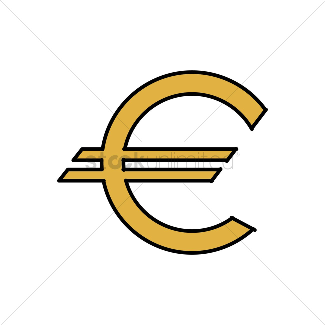 Euro Currency Symbol Vector Graphic