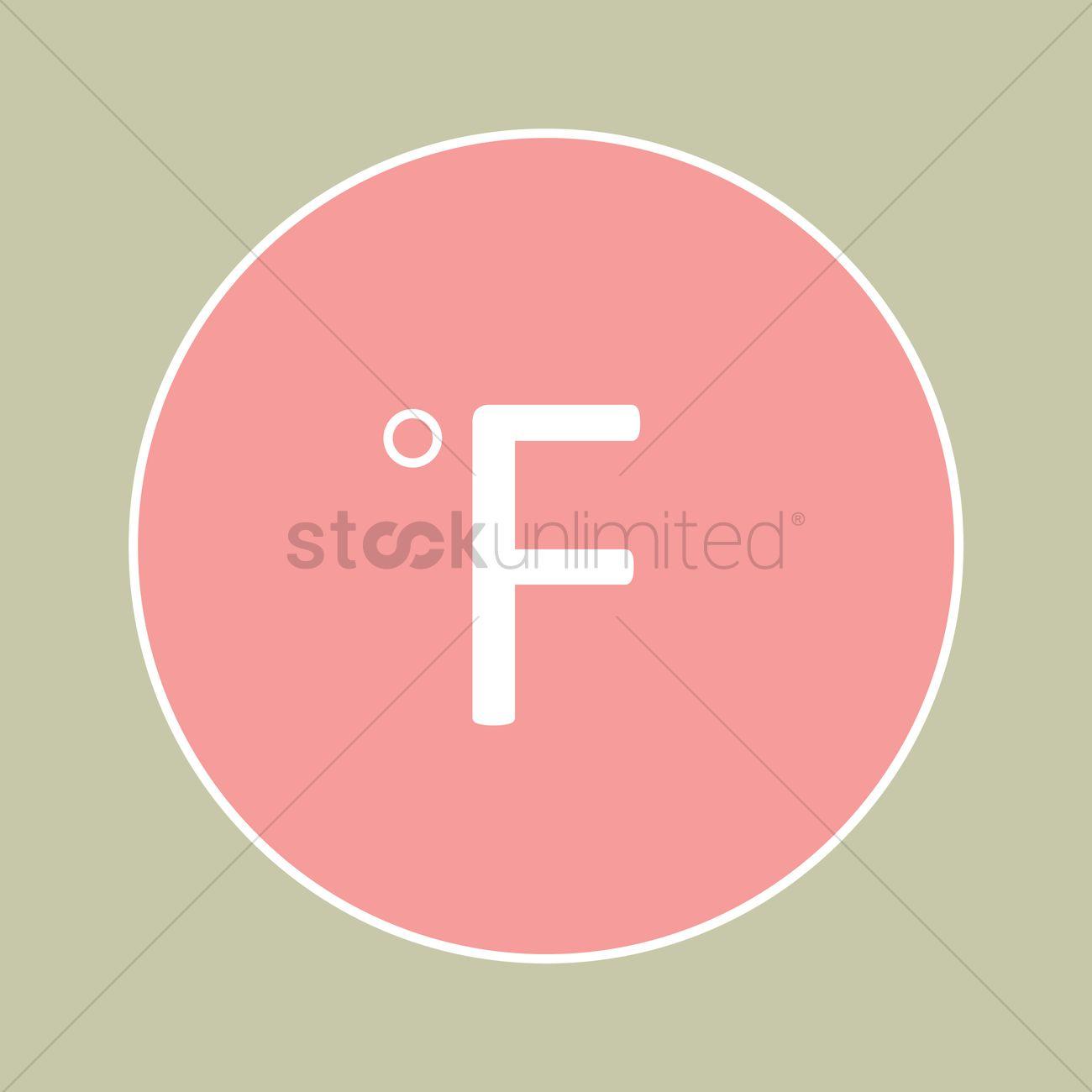 Fahrenheit symbol icon vector image 1334969 stockunlimited fahrenheit symbol icon vector graphic biocorpaavc Choice Image