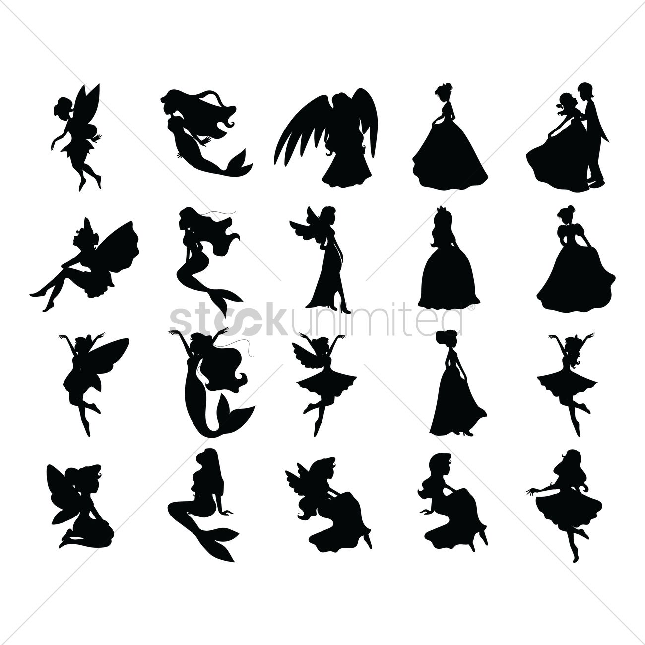 Fairy Tale Silhouettes Vector Image - 1414169