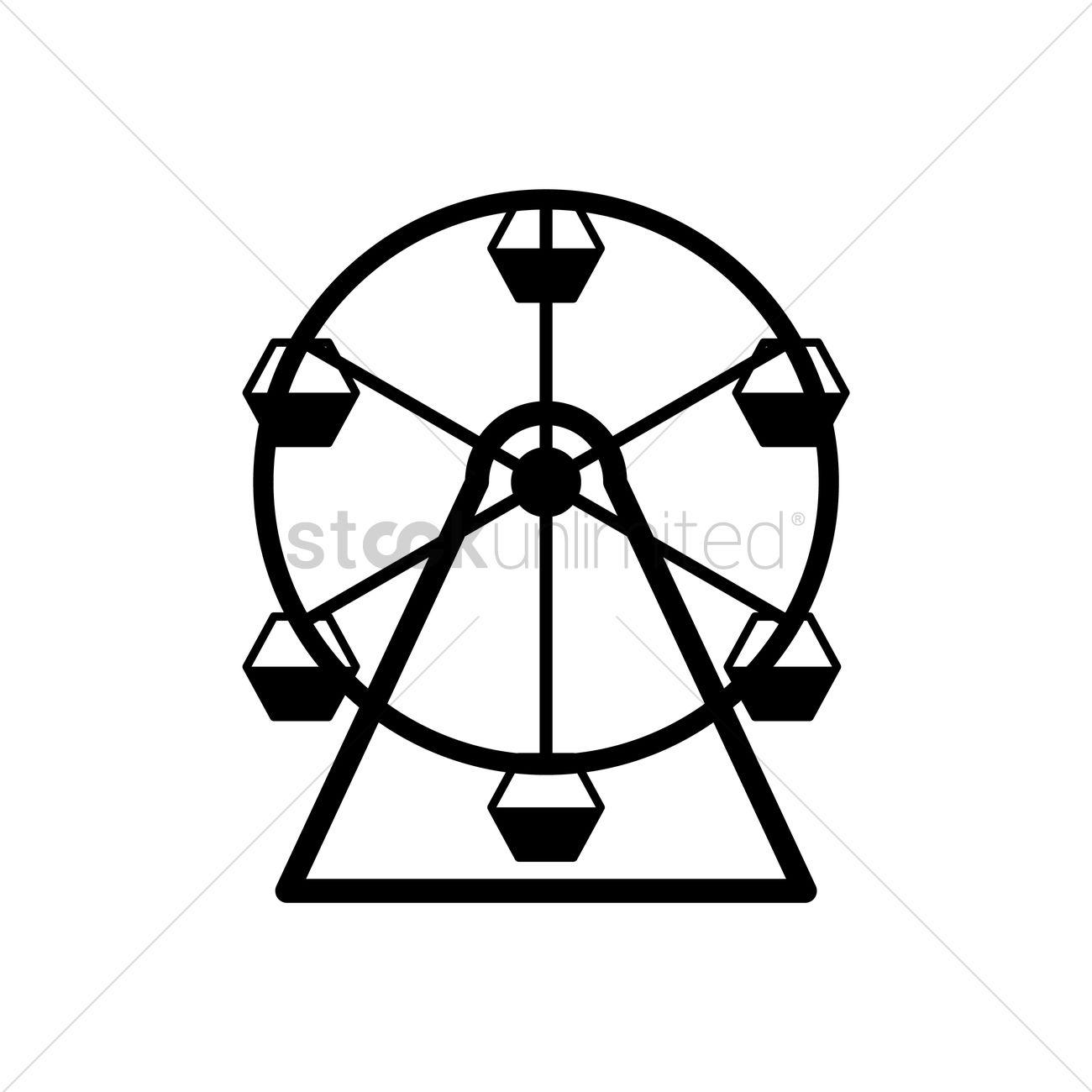 Ferris Wheel Vector Image 1493805 Stockunlimited