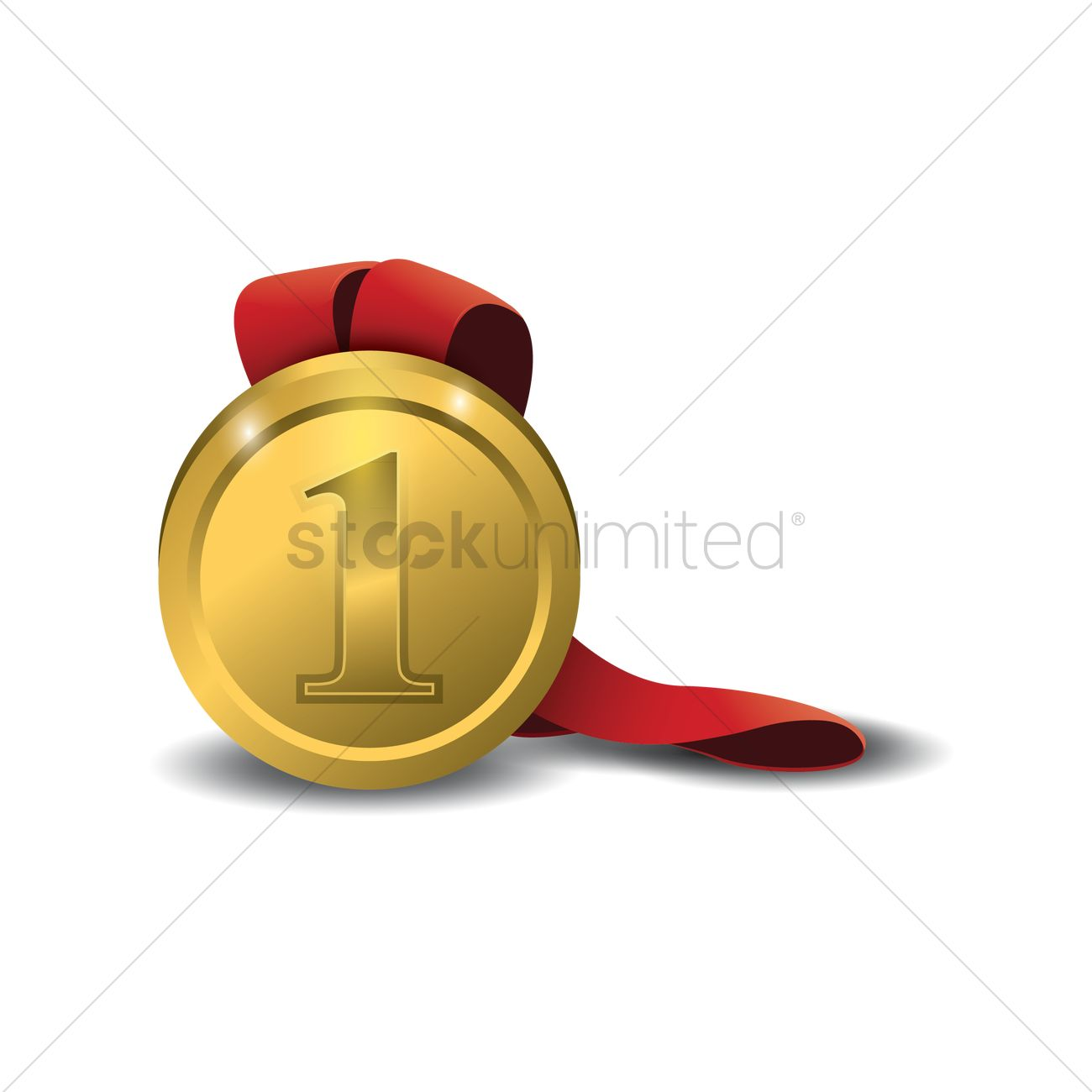 Free First place medal Vector Image - 1438201 | StockUnlimited