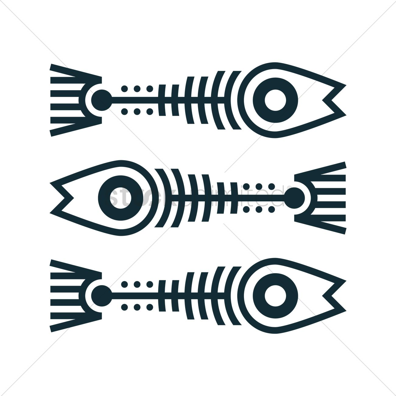 fish bone tattoo vector image 1443573 stockunlimited rh stockunlimited com fishbone tattoo meaning fishbone tattoo