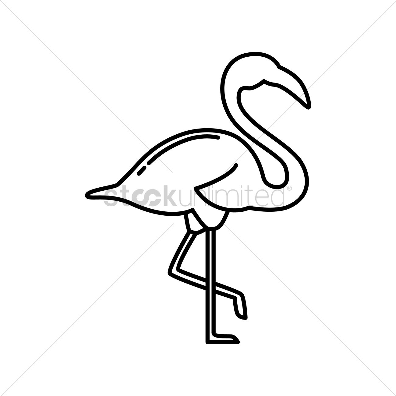Flamingo vector image 1991789 stockunlimited flamingo vector graphic pronofoot35fo Images