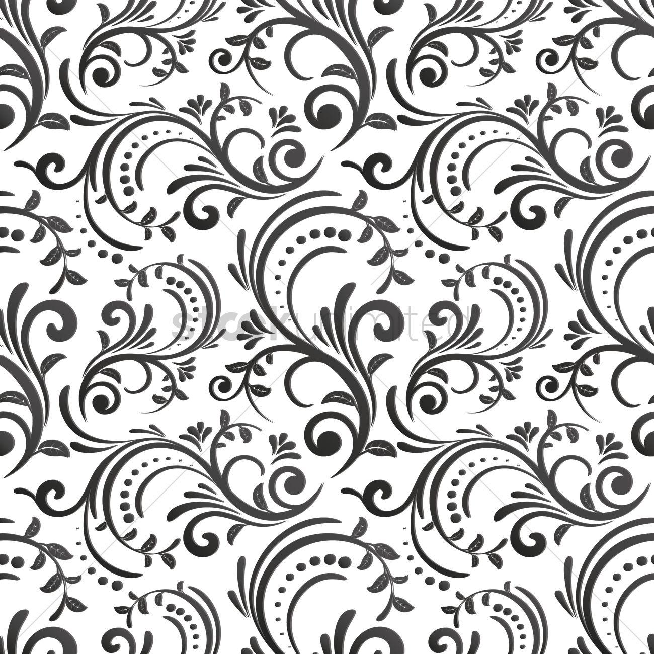 Floral Background Design Vector Image 1969757 Stockunlimited