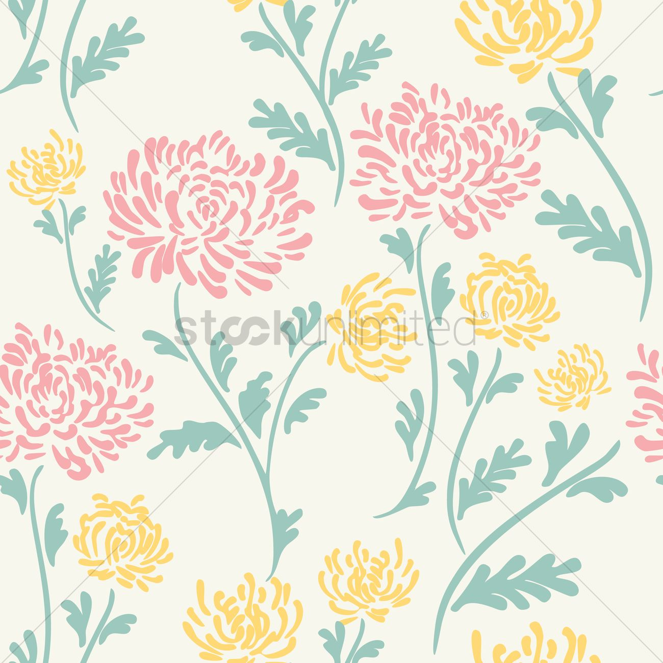 floral background design vector image 1995473