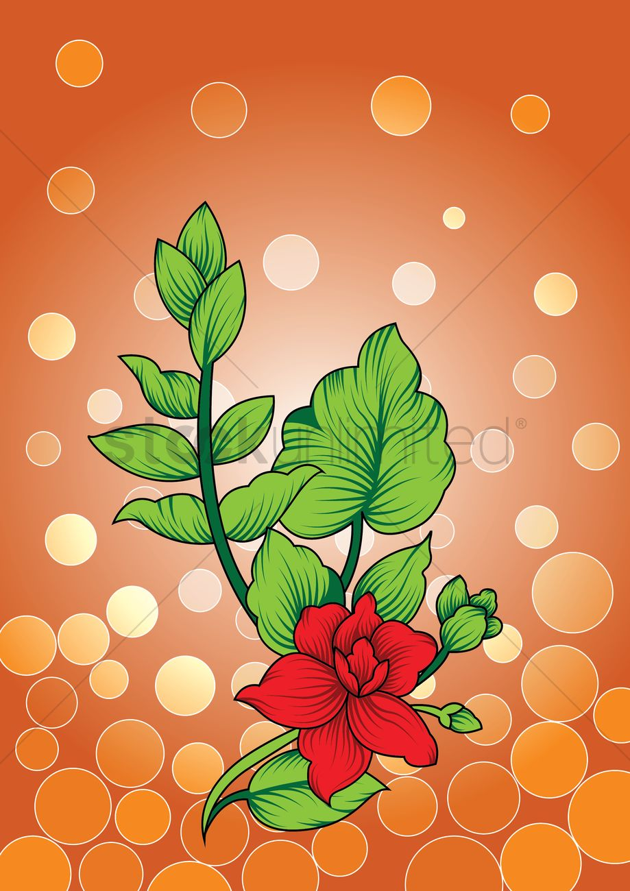 Floral Background Vector Image 1447485 Stockunlimited