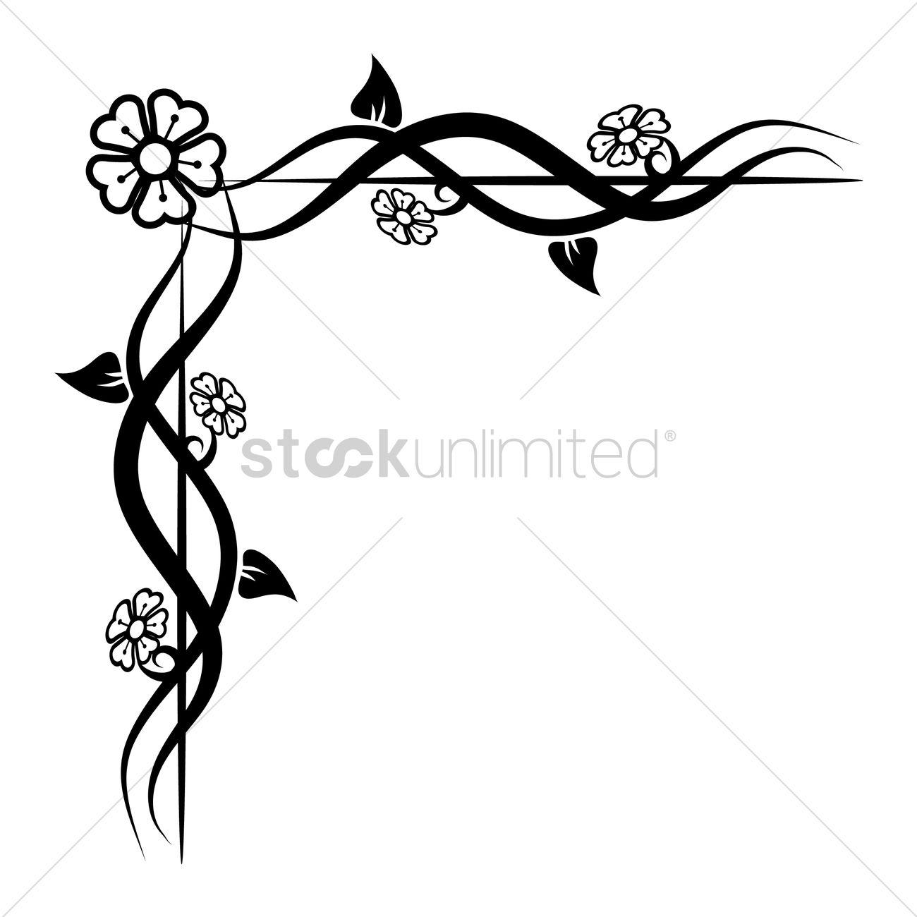 Floral corner design Vector Image - 1626889 | StockUnlimited