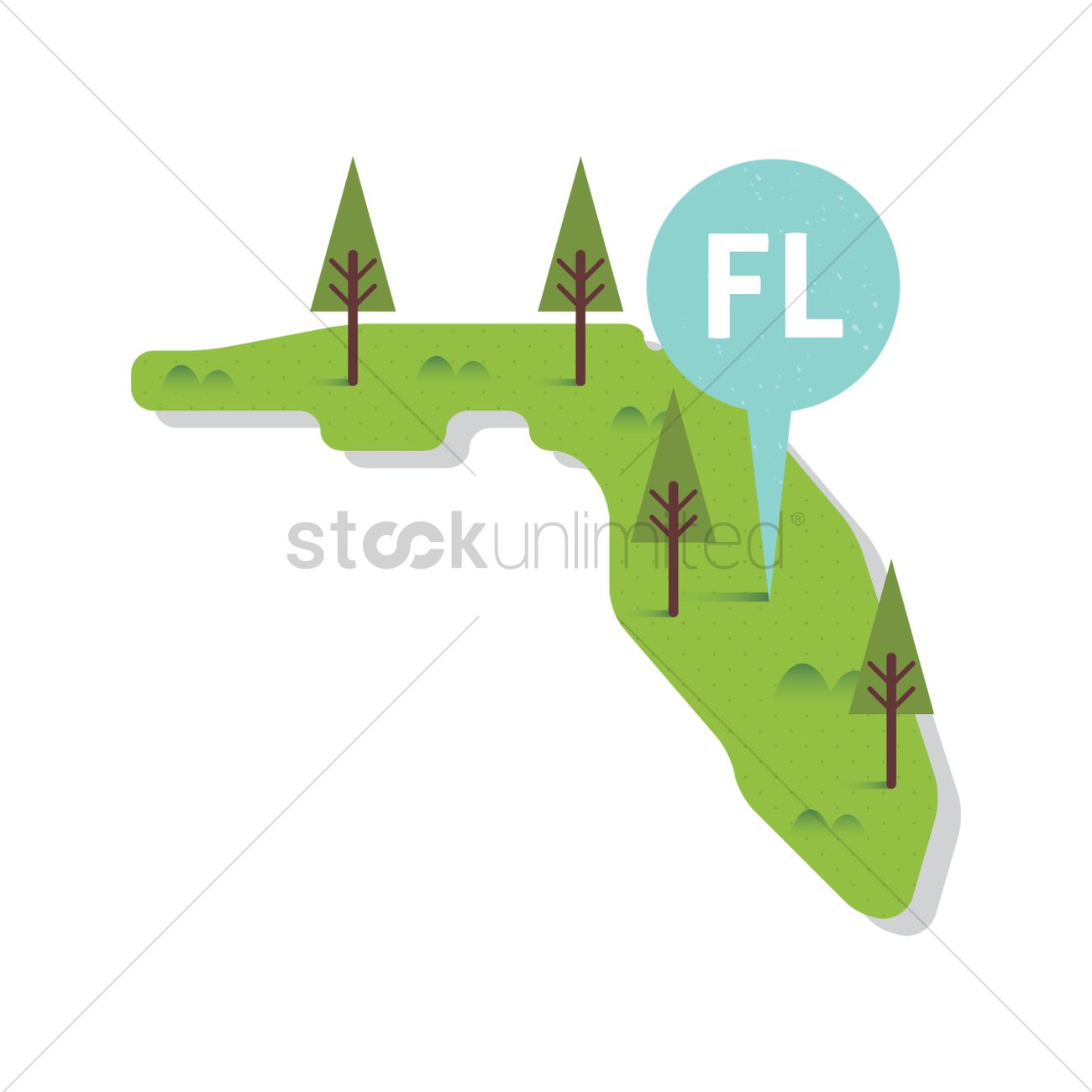 Free Florida state map Vector Image - 1557061 | StockUnlimited
