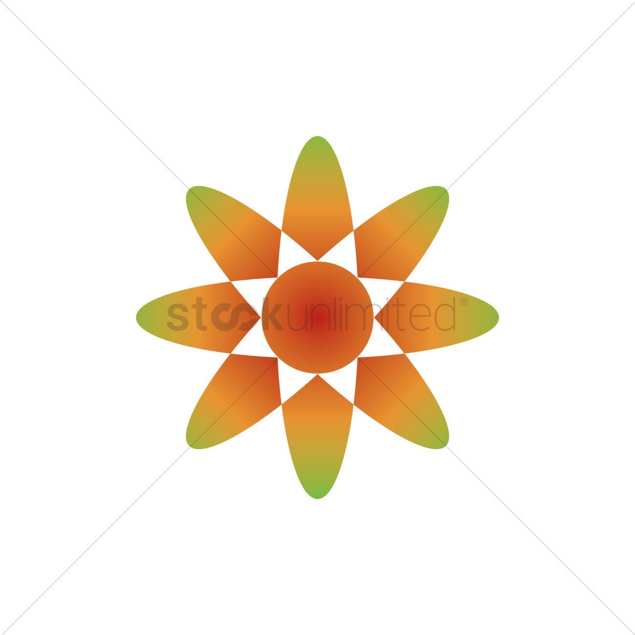 Flower Logo Element Vector Image 1627565 Stockunlimited