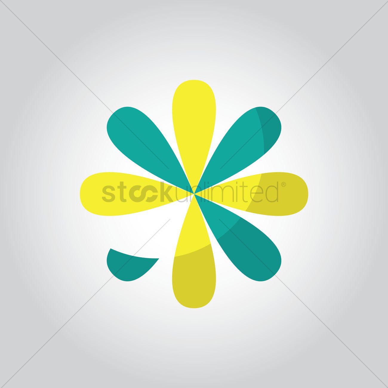 Flower Logo Element Vector Image 1627717 Stockunlimited