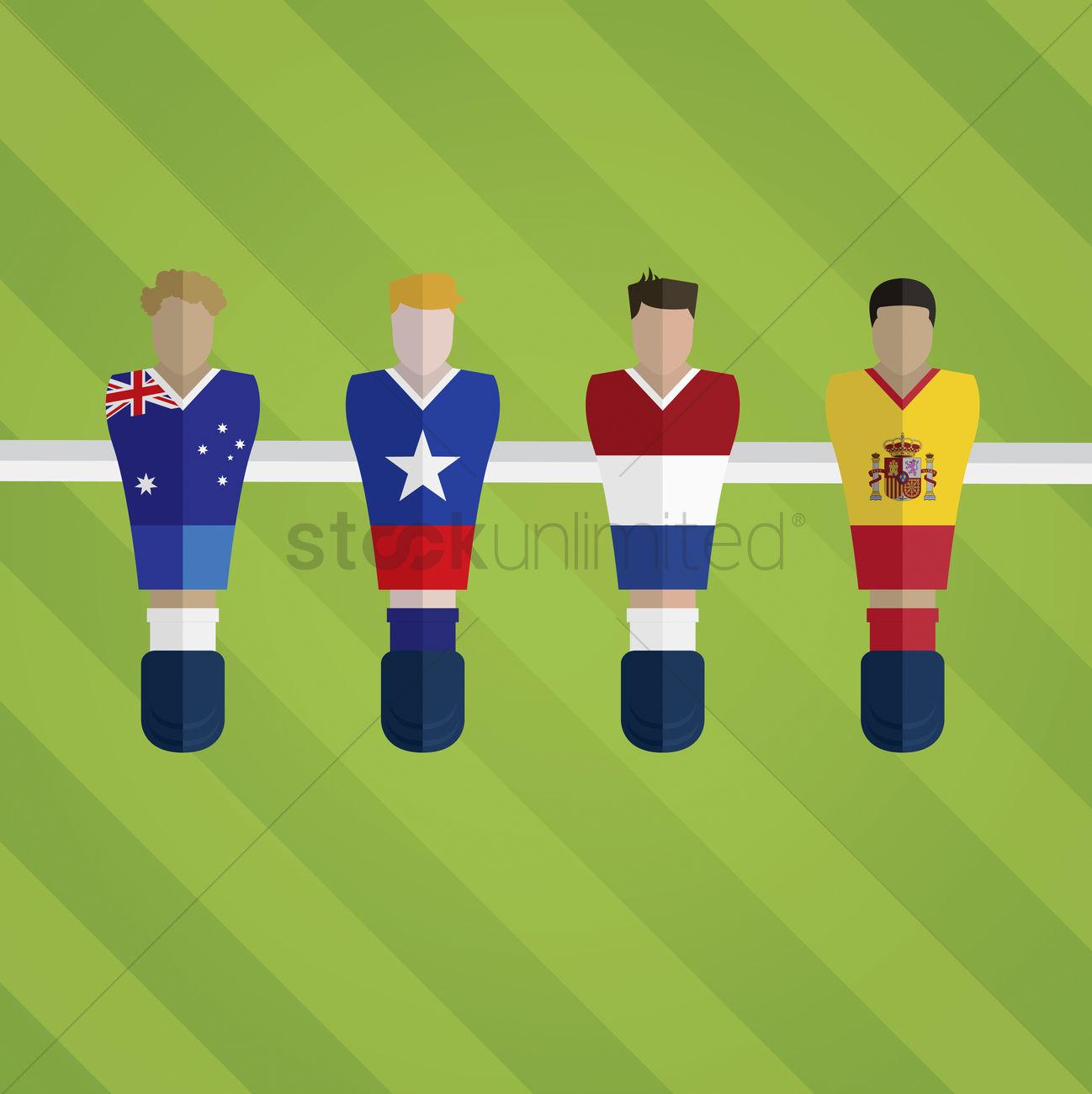 6643cf2cf1c foosball figurines represent football team vector graphic. Vector  Illustration