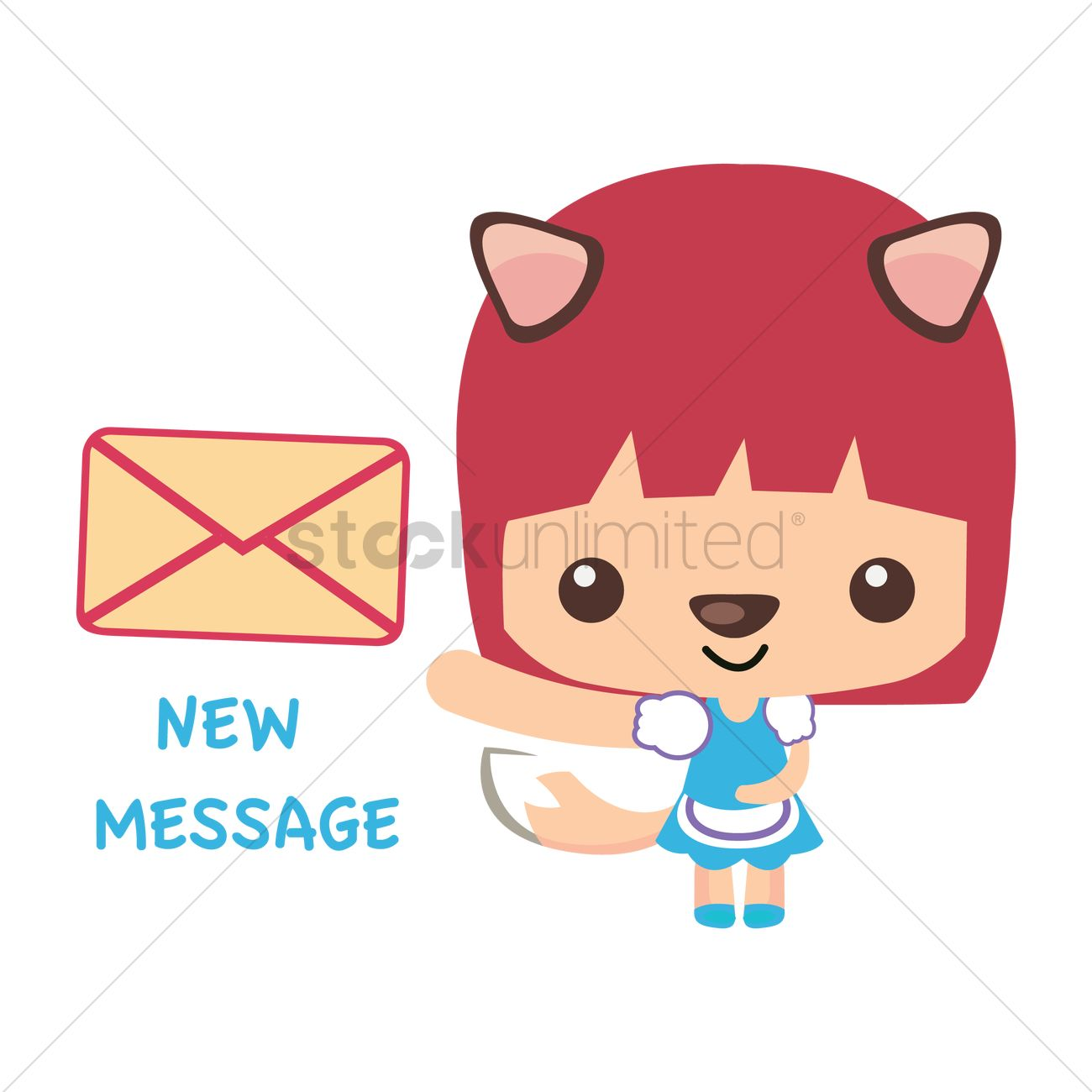 fox cartoon character vector image 1308545 stockunlimited