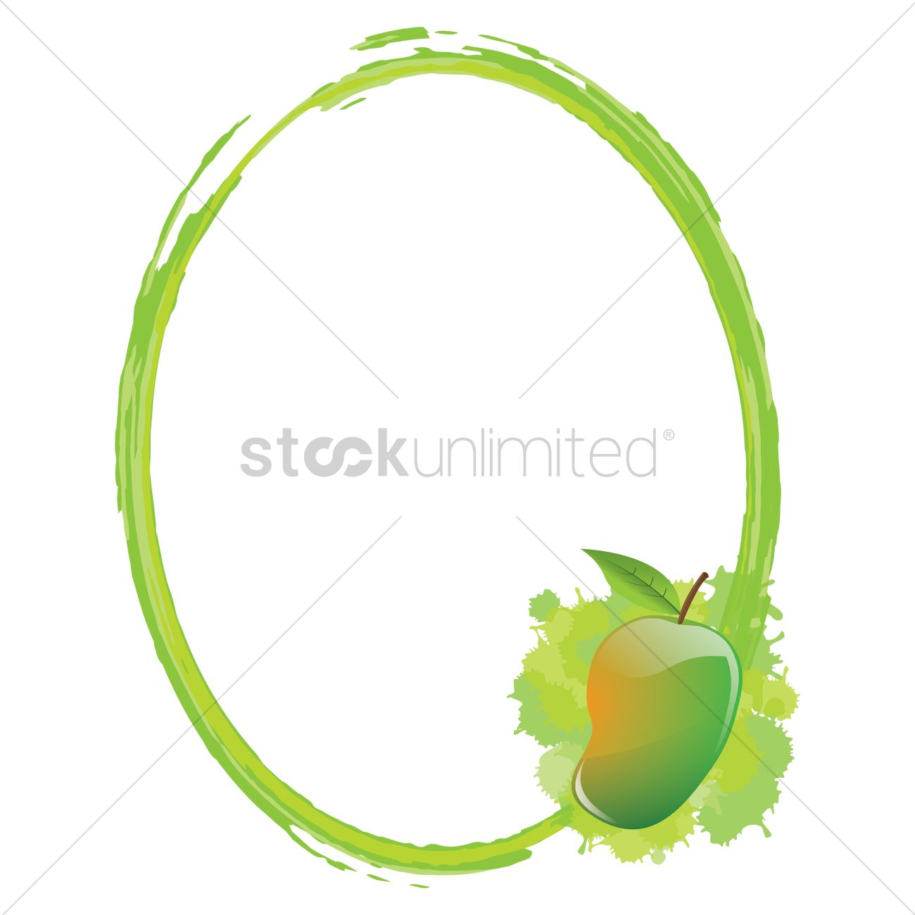 Frame with mango Vector Image - 1471273   StockUnlimited