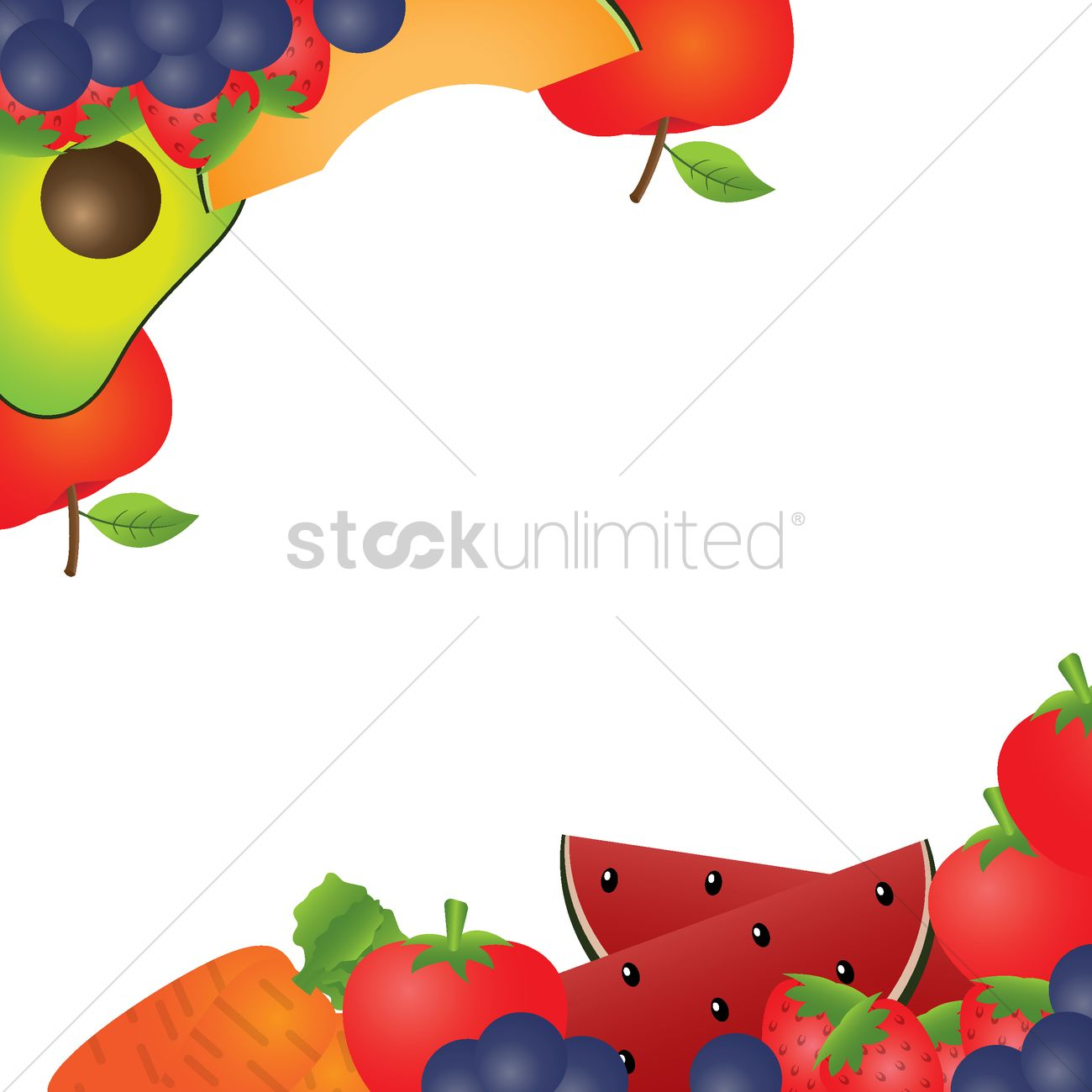 fruits and vegetables background design vector image 1979009