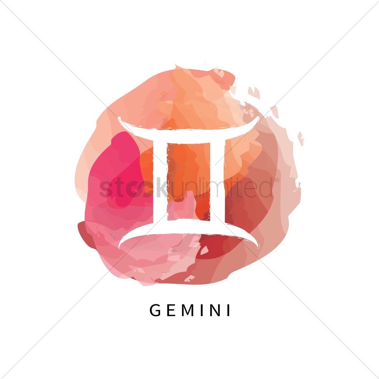 Gemini symbol Vector Image - 1964269 | StockUnlimited