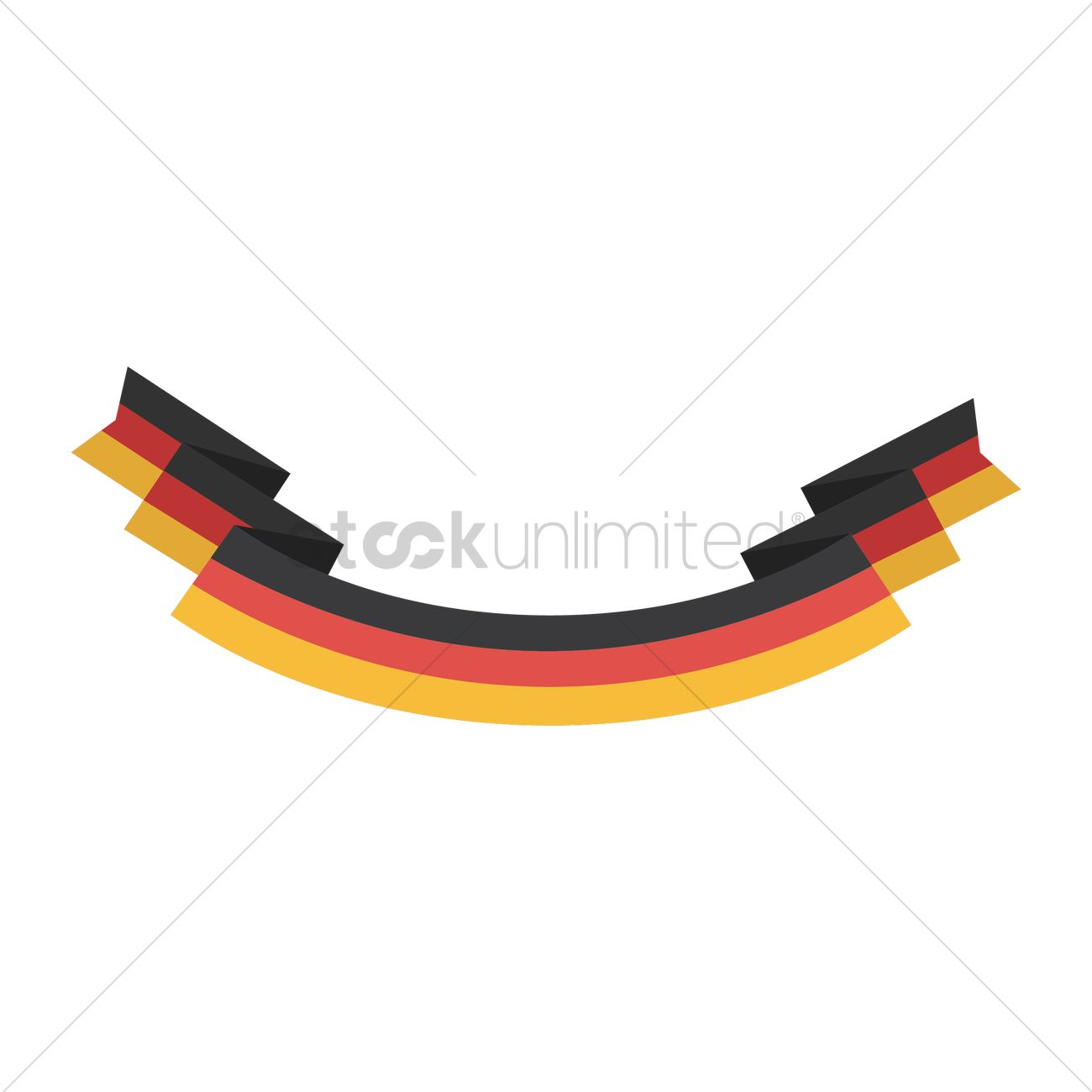 german flag banner vector image 1619769 stockunlimited