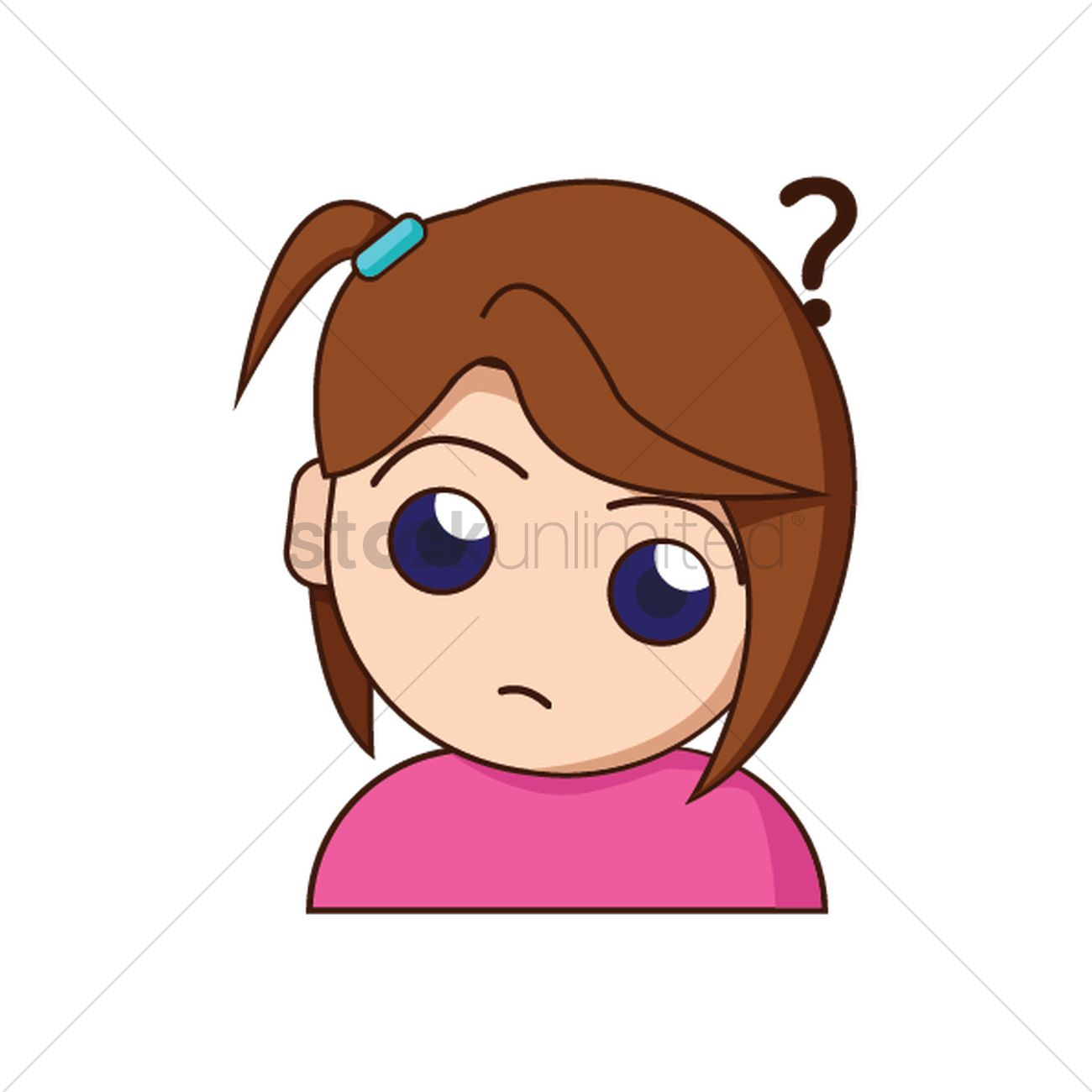Girl Confused Vector Image - 1475757